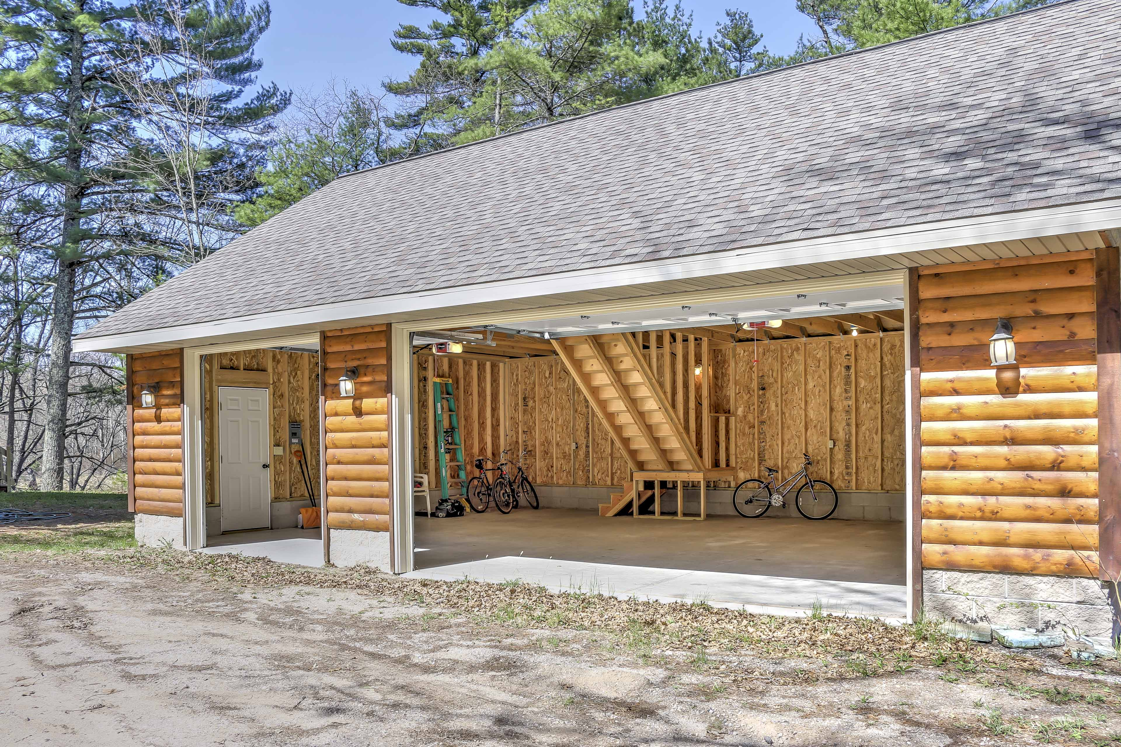 A 3 car garage is available for parking.
