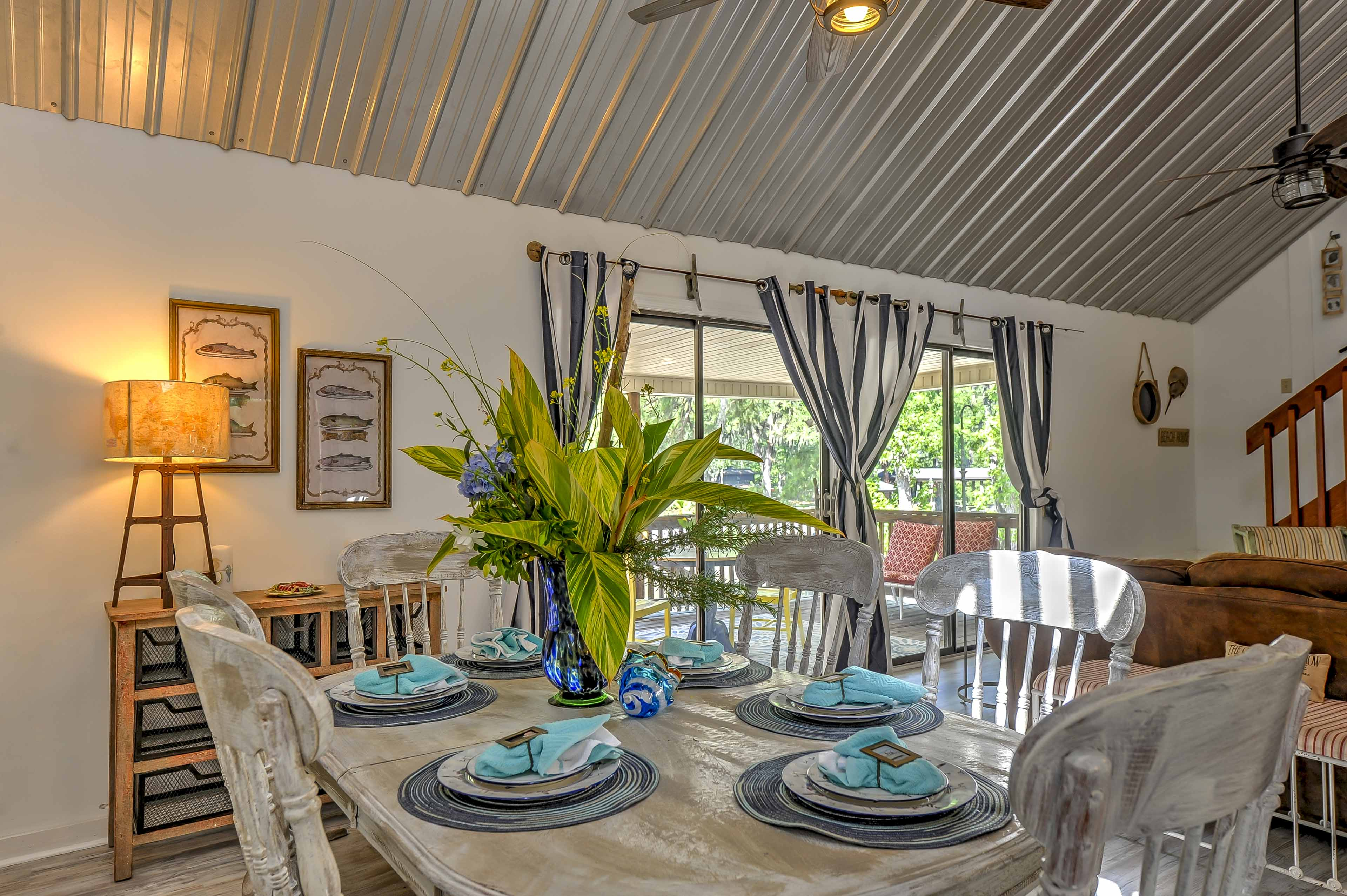 Dine in style at this large dining table.