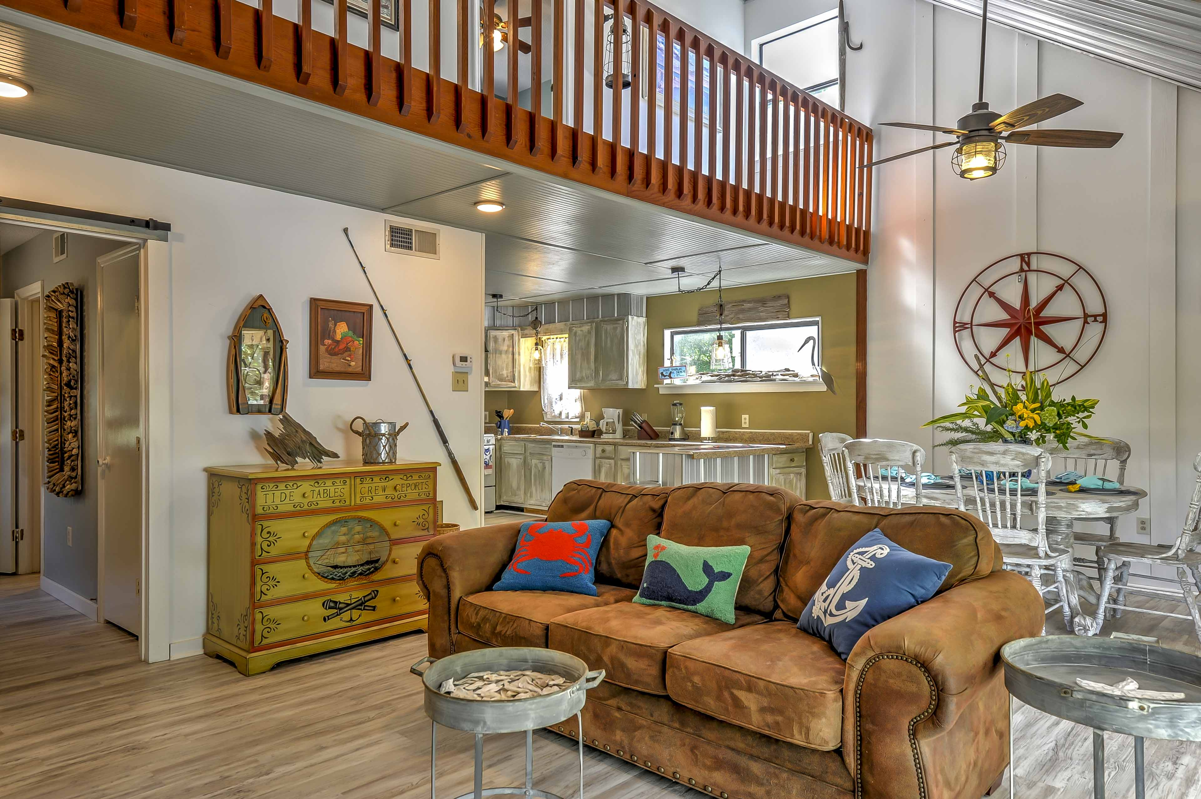 The spacious living area provides the ultimate home-away-from-home experience!
