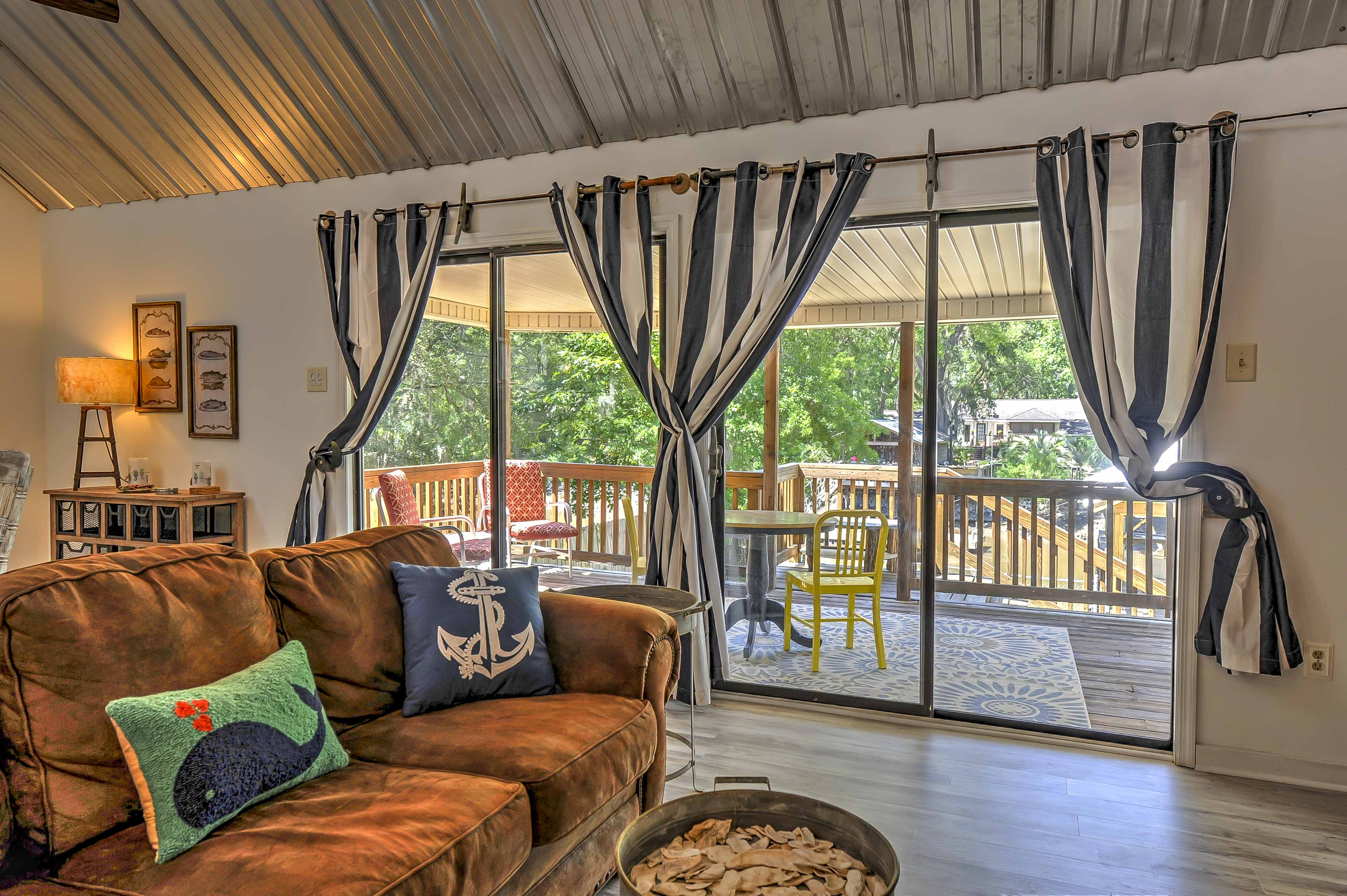 Gorgeous views can be enjoyed from both inside or out.