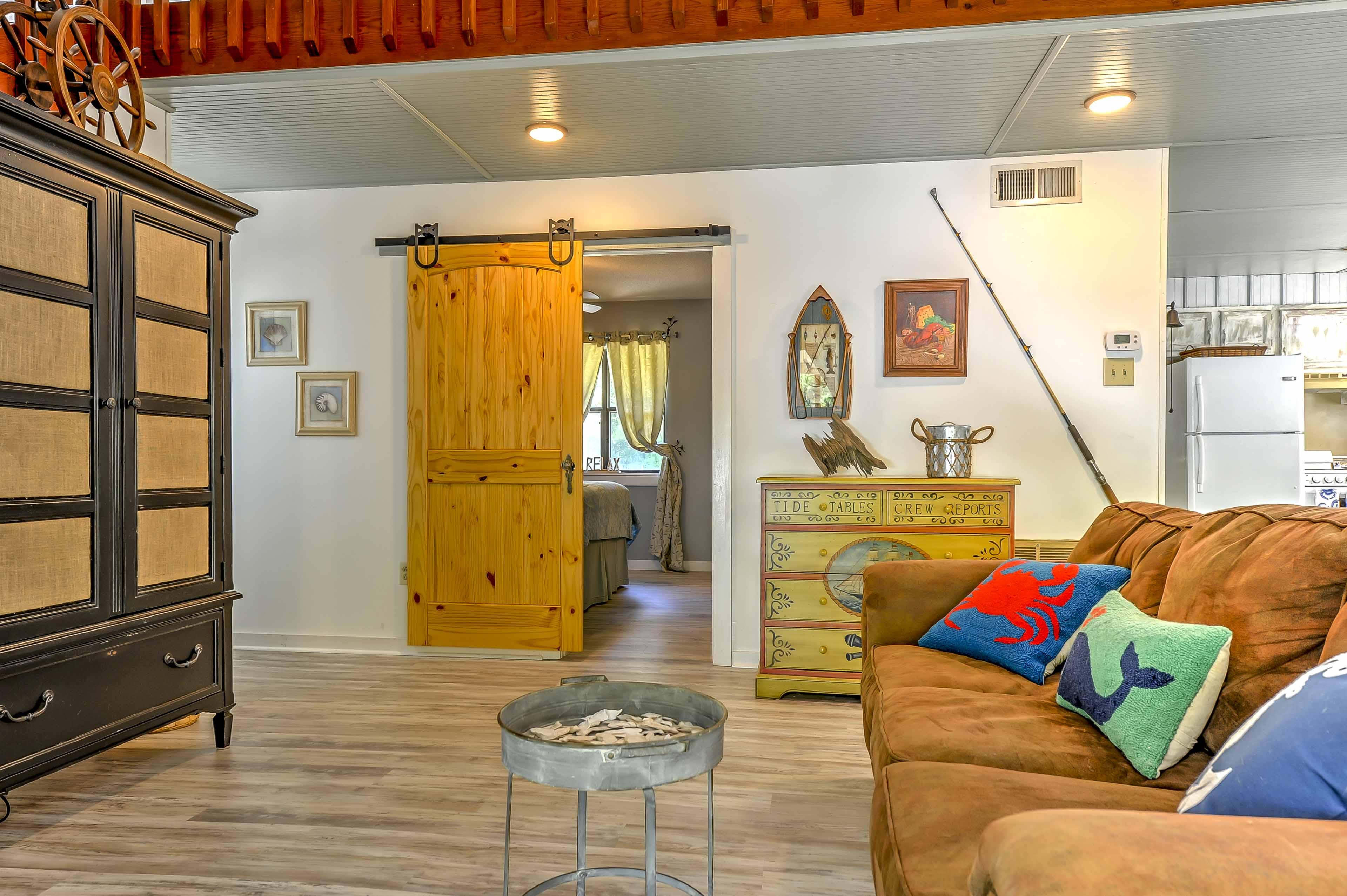 Unique decor creates a warm and inviting ambiance.