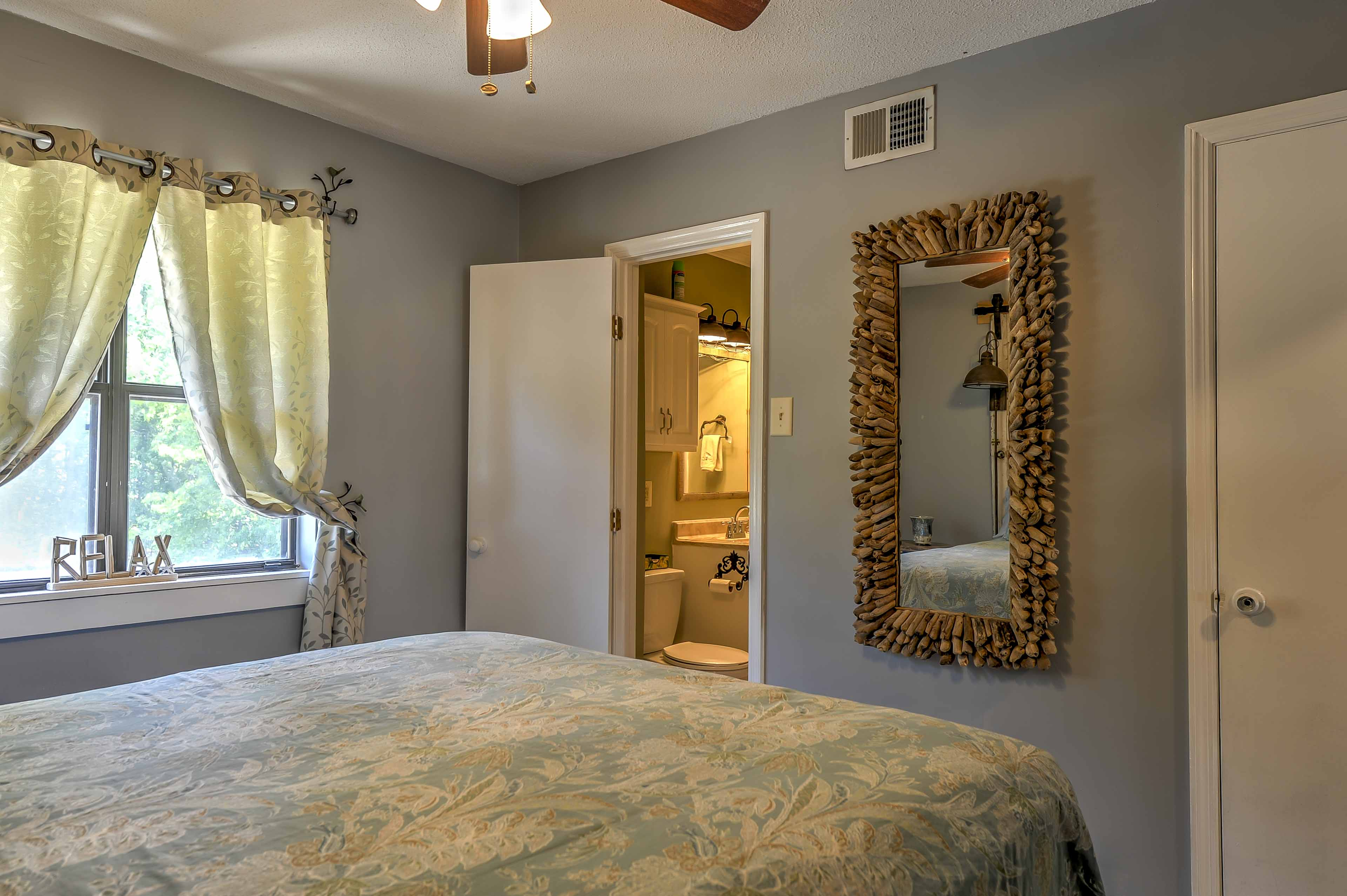 The first bedroom includes the luxury of an en-suite bathroom.