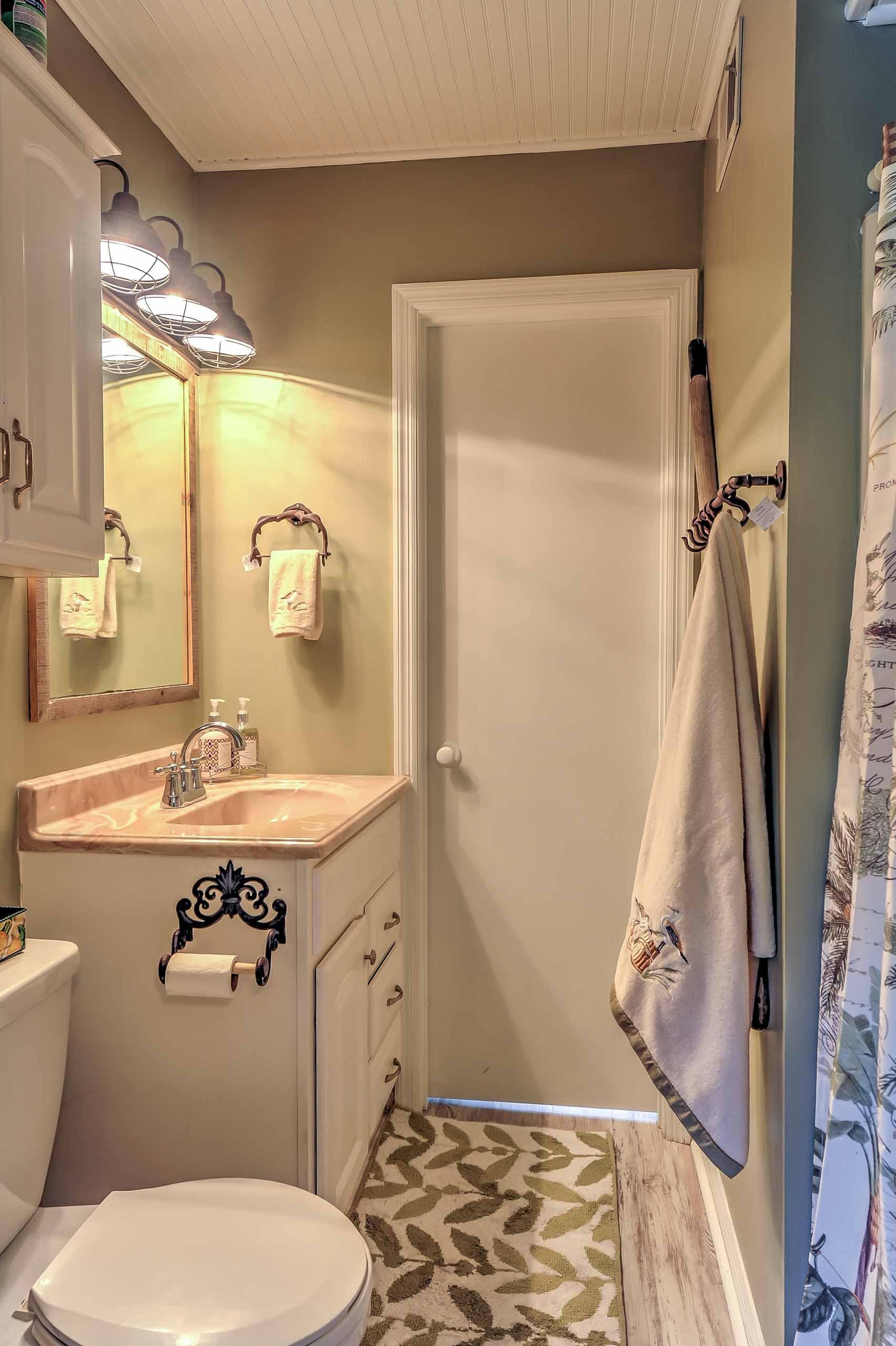 The en-suite bathroom provides maximum convenience and privacy.