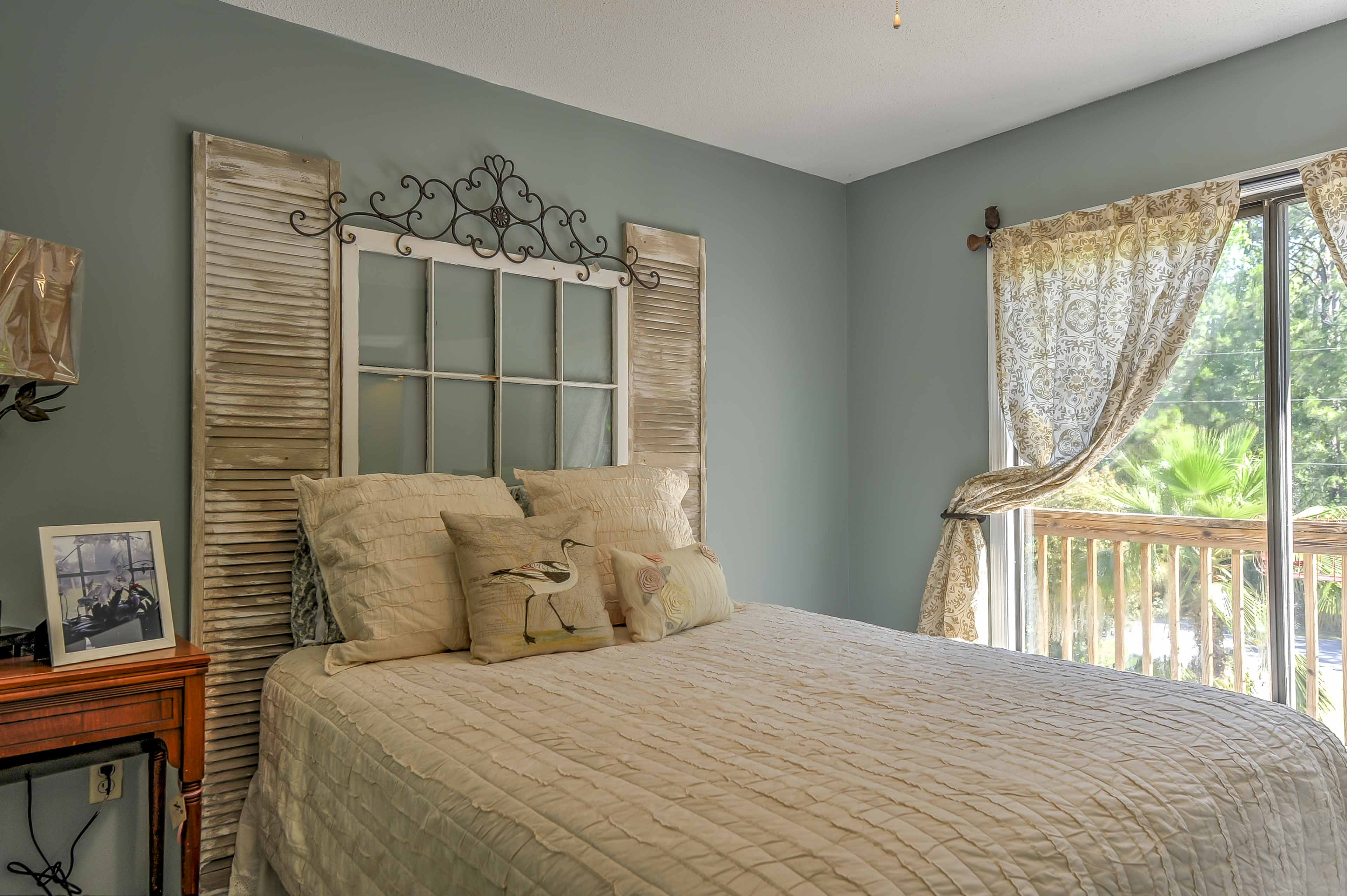 The second bedroom features a cozy bed for peaceful slumbers.