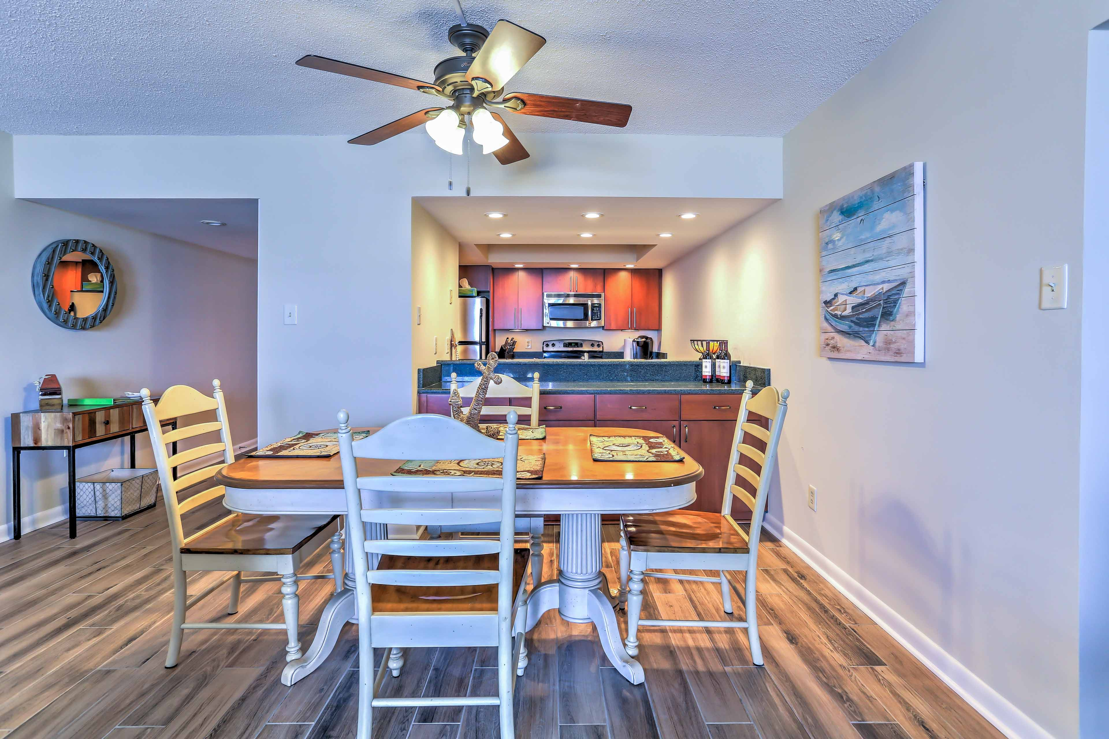 Take a walk along Myrtle Beach and check out oceanfront cuisine.