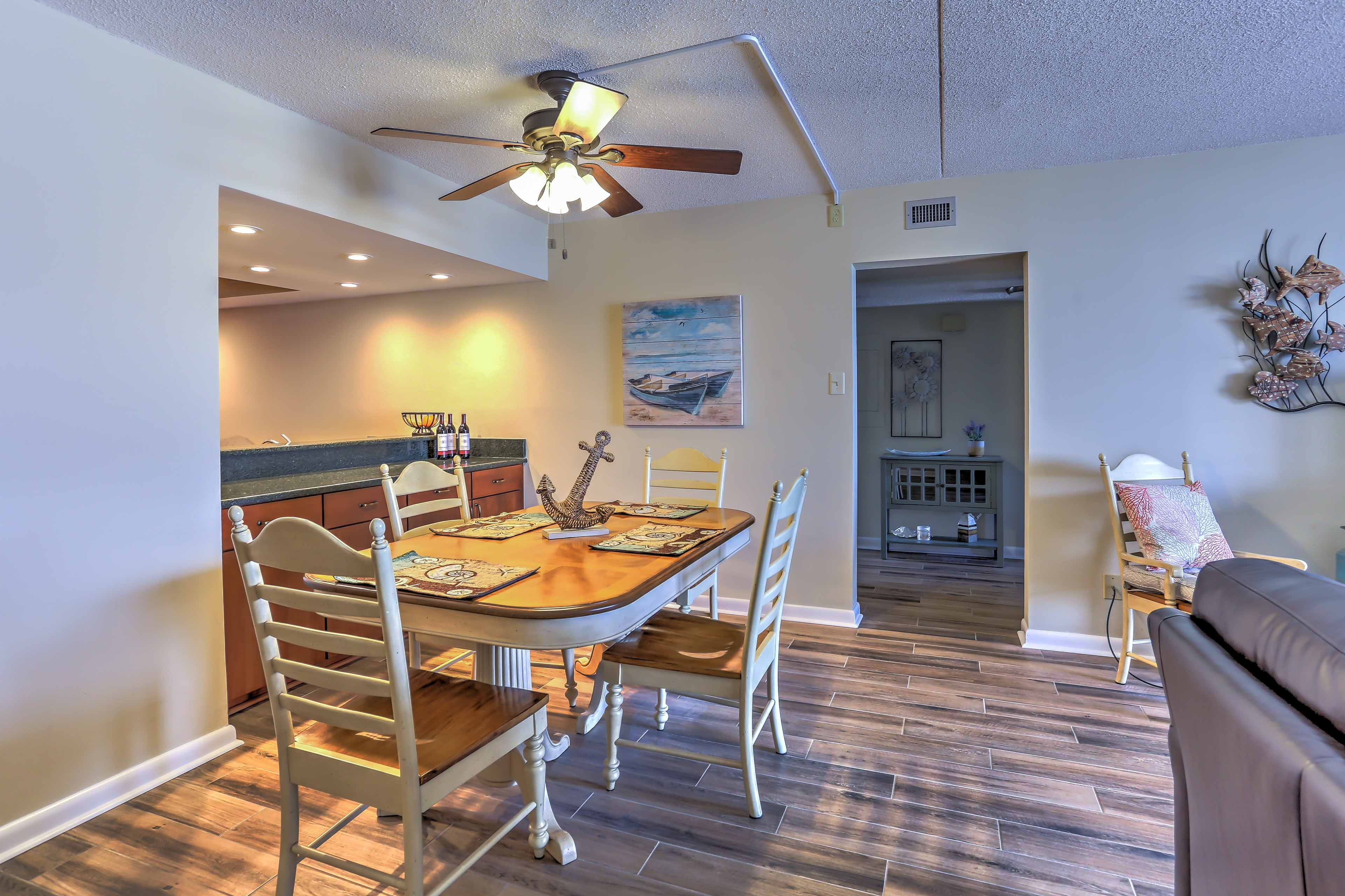 Sit down for a home-made meal at the formal dining table.