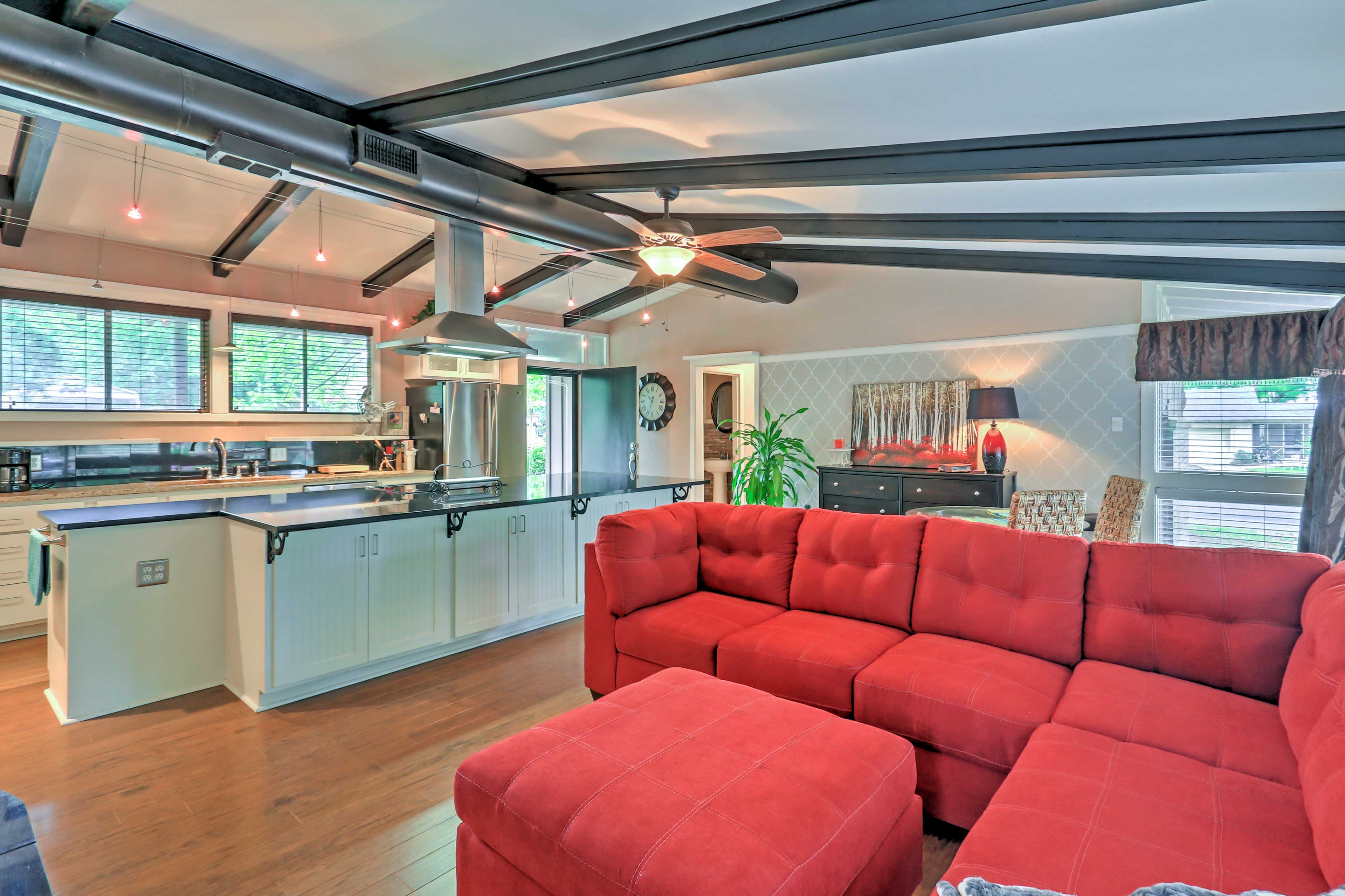 This 3-bedroom, 2-bath vacation rental sleeps 6 - perfect for 2 small families!