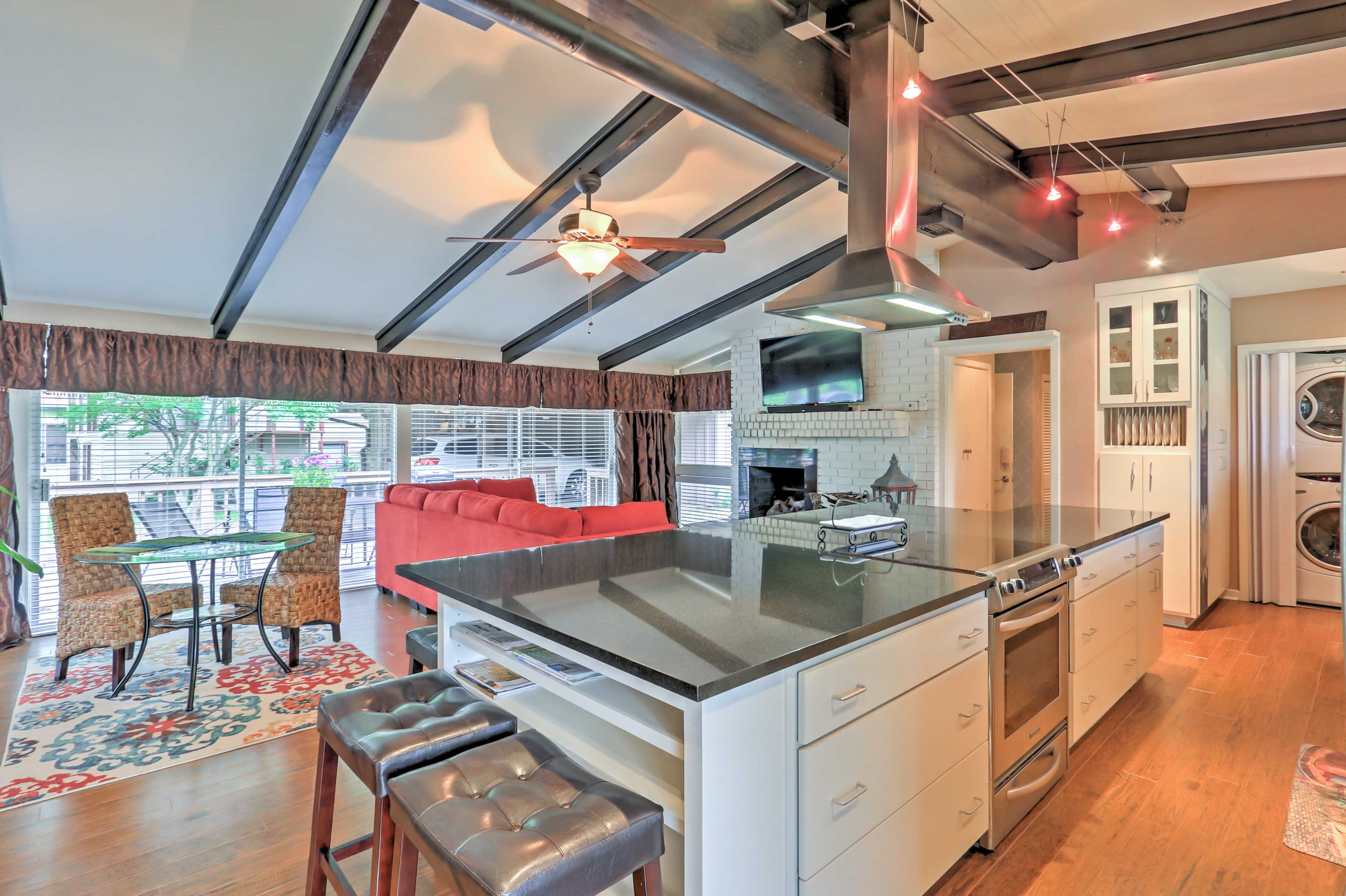 The home also features a sprawling kitchen with plenty of counterspace.