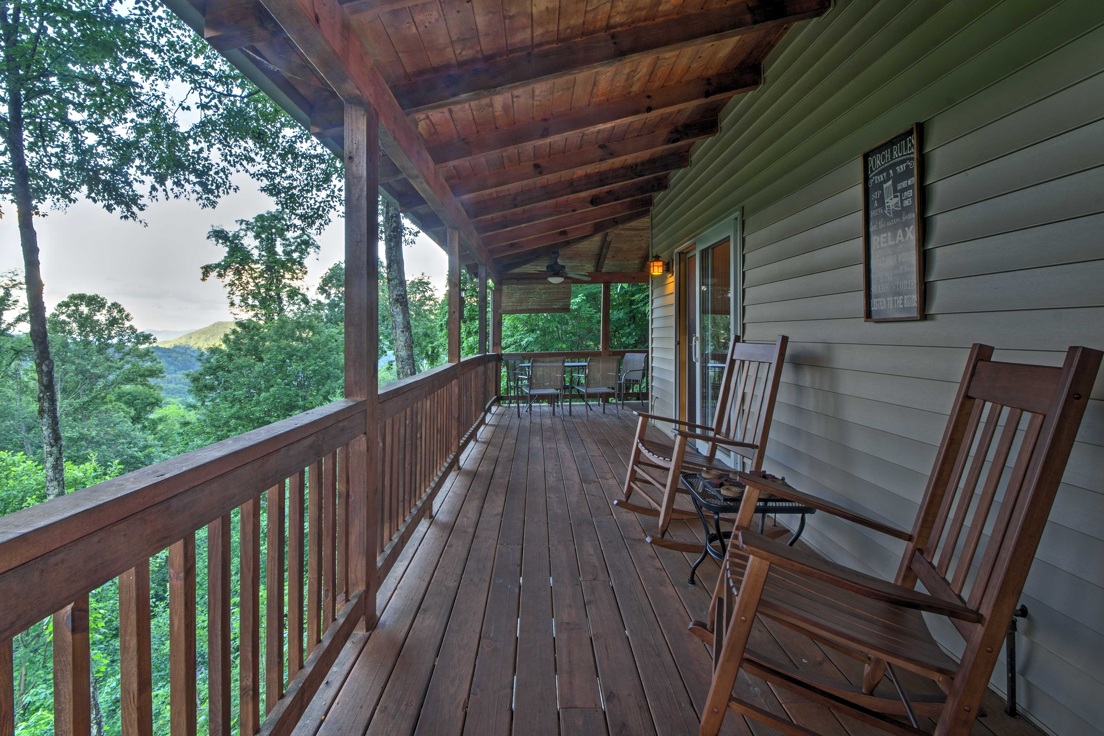 Start each morning with a fresh coffee on the deck.