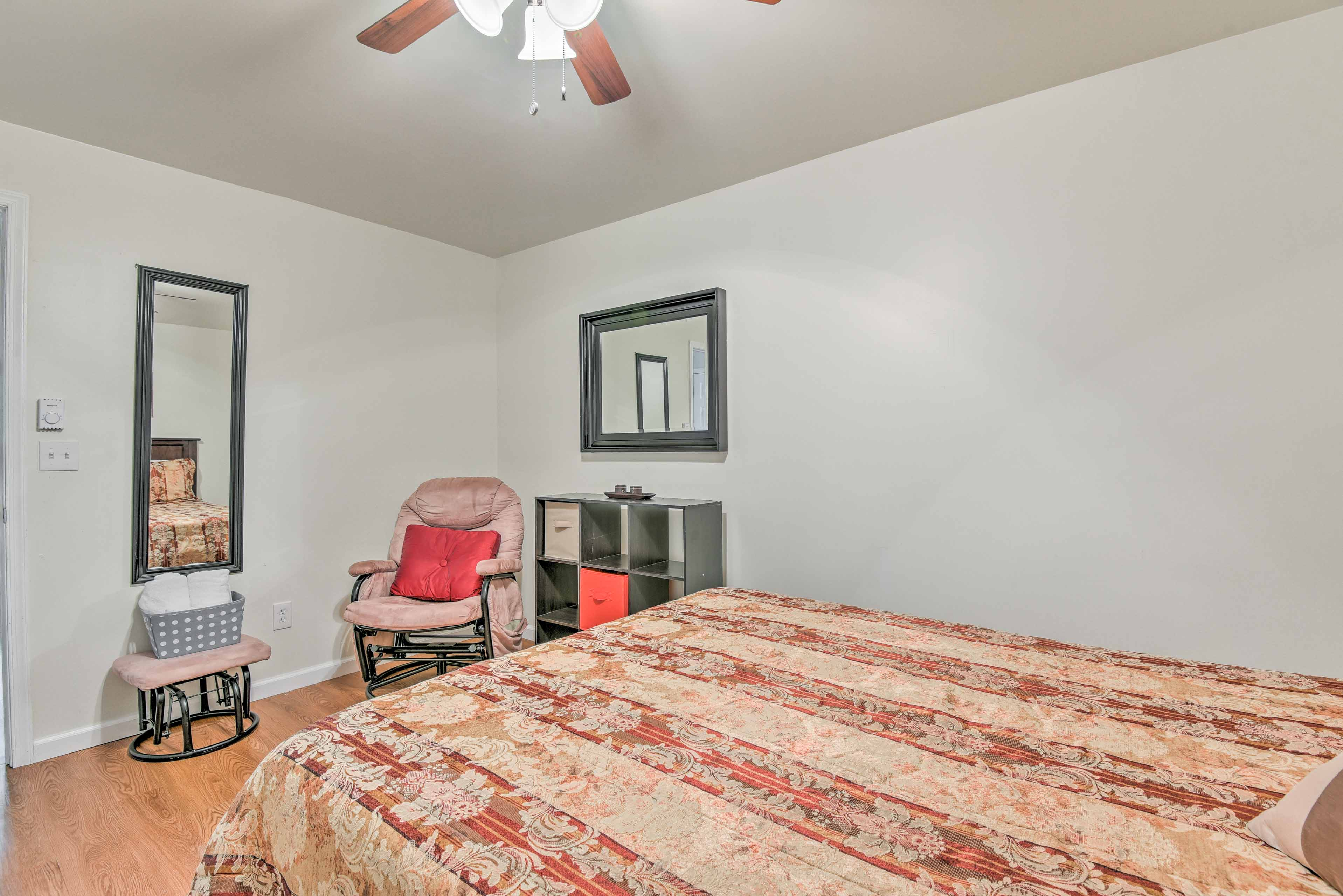 Enjoy the peace and quiet of the basement bedroom.