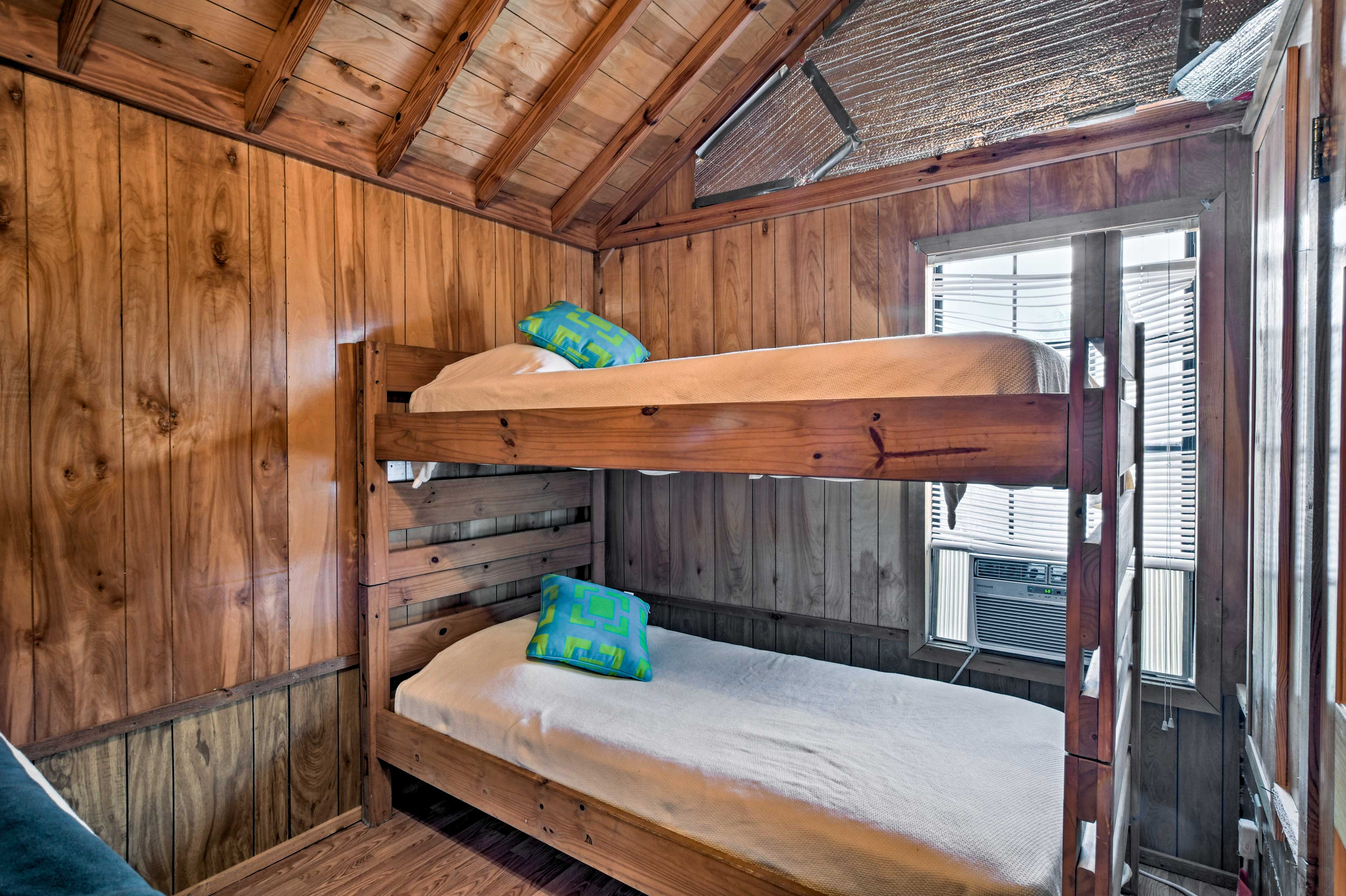 The kids will like the bunk bed.