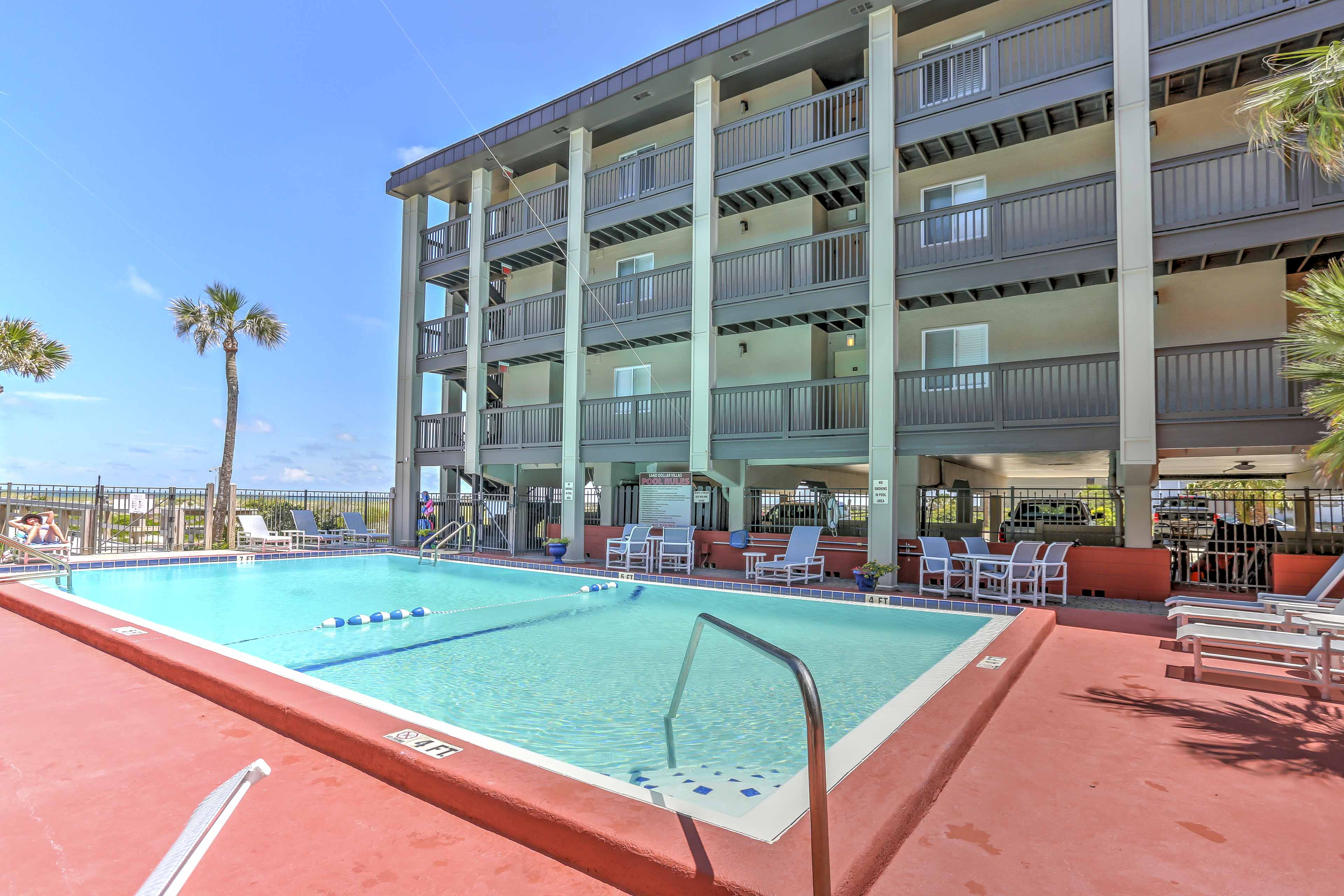 Spend your vacation poolside at this exclusive Fernandina Beach vacation rental!