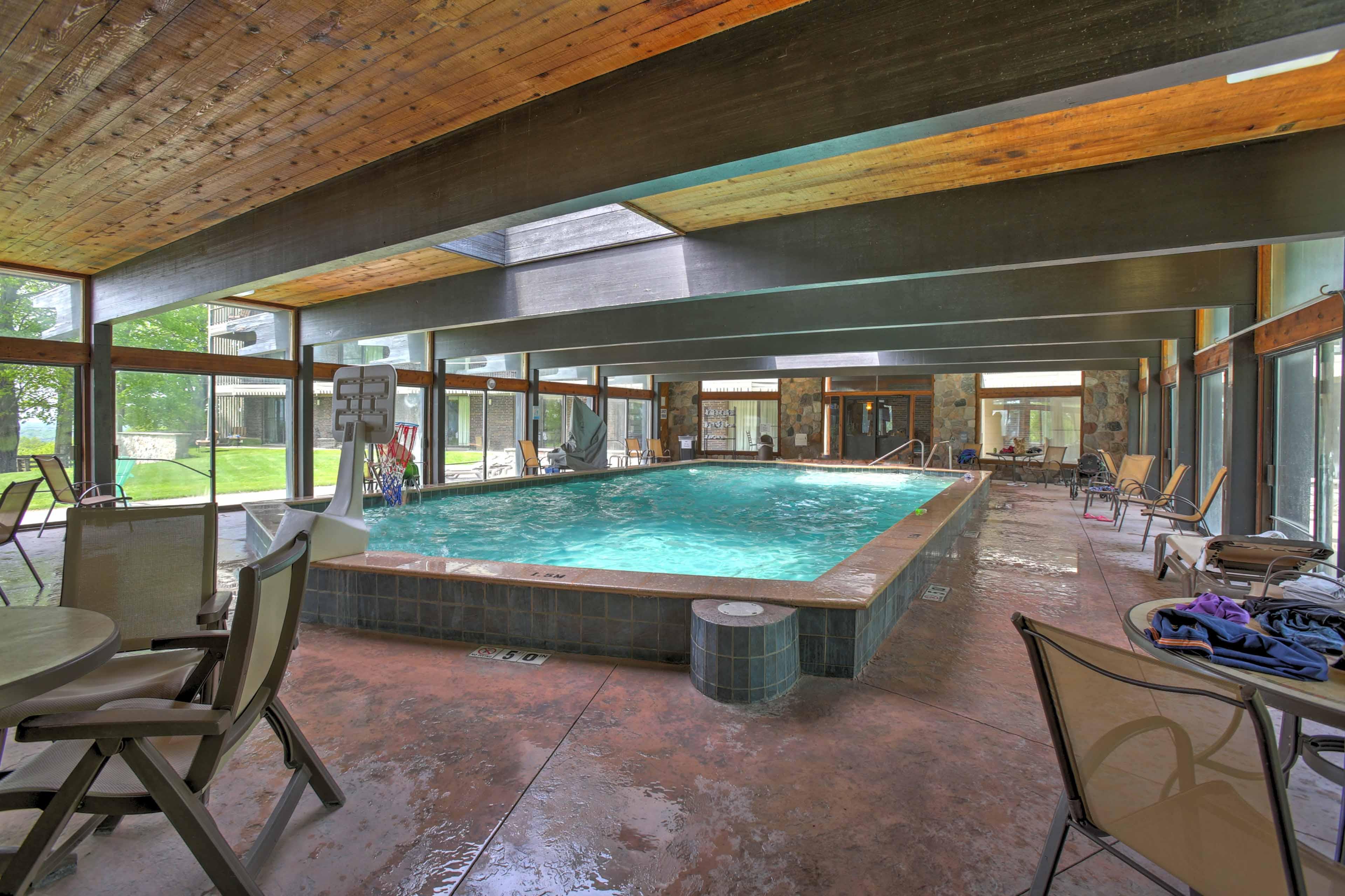 Resort amenities also include this indoor swimming pool.
