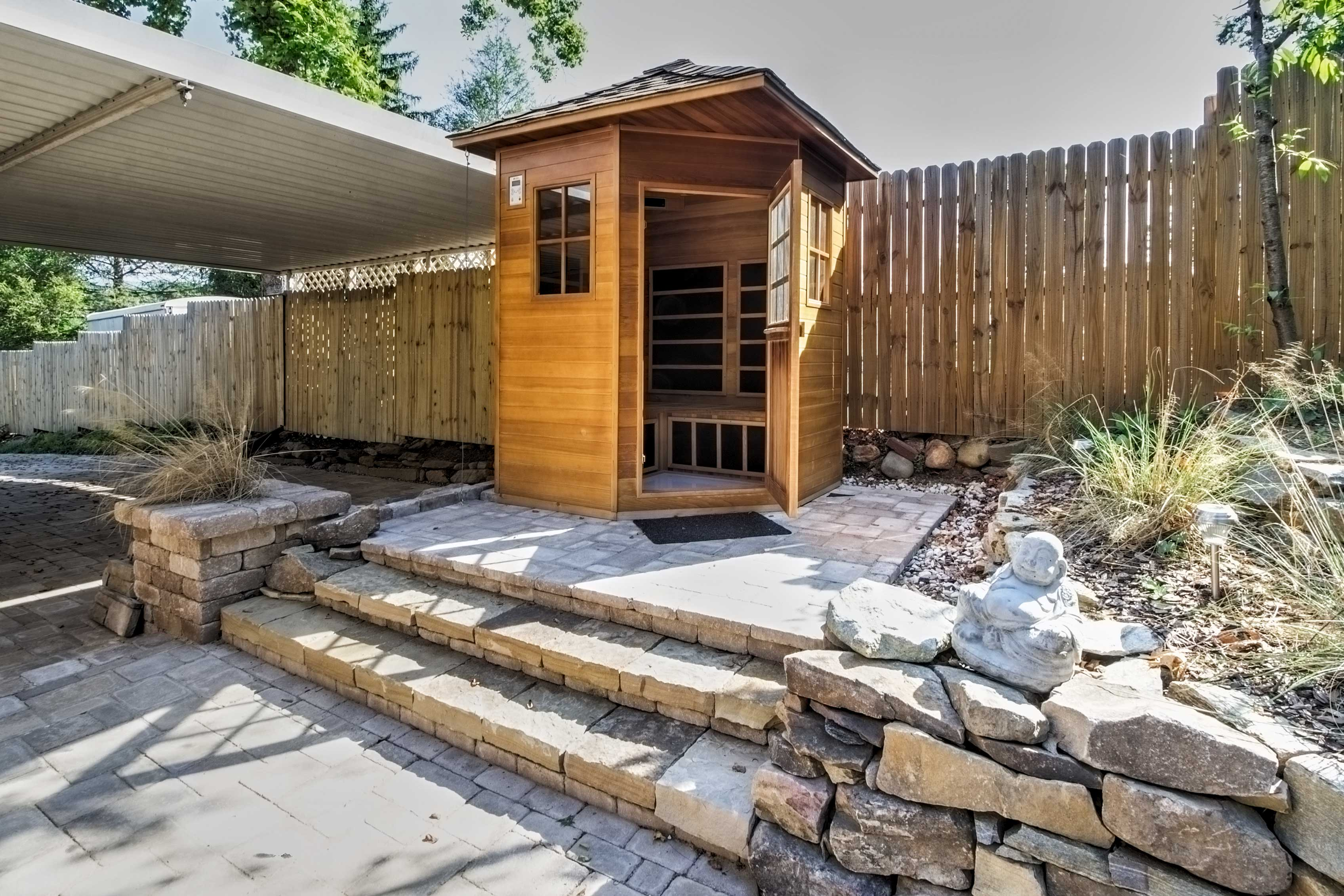 Relax and unwind in the private sauna!