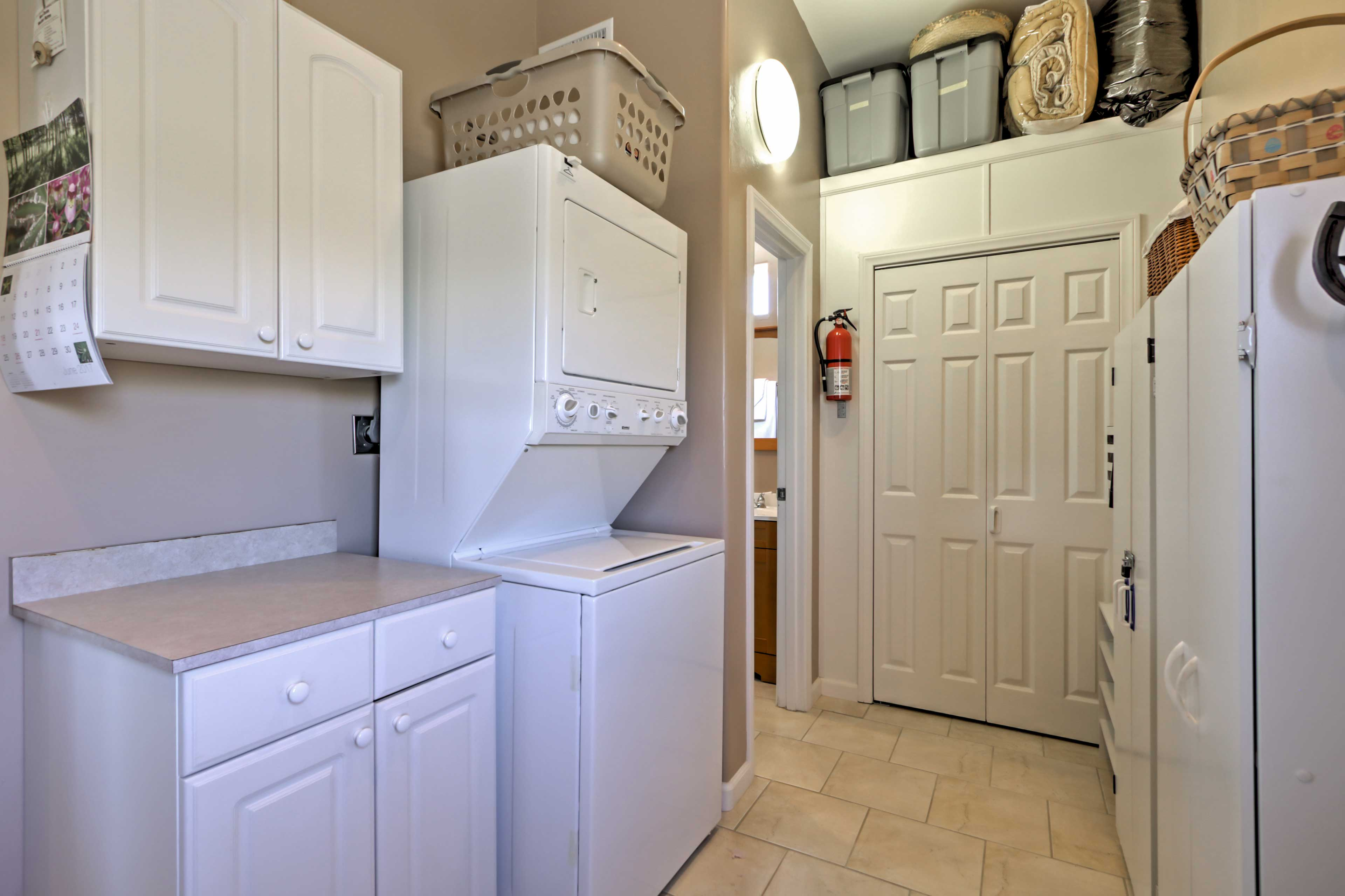 Keep your clothes clean during your stay by utilizing the laundry machines.
