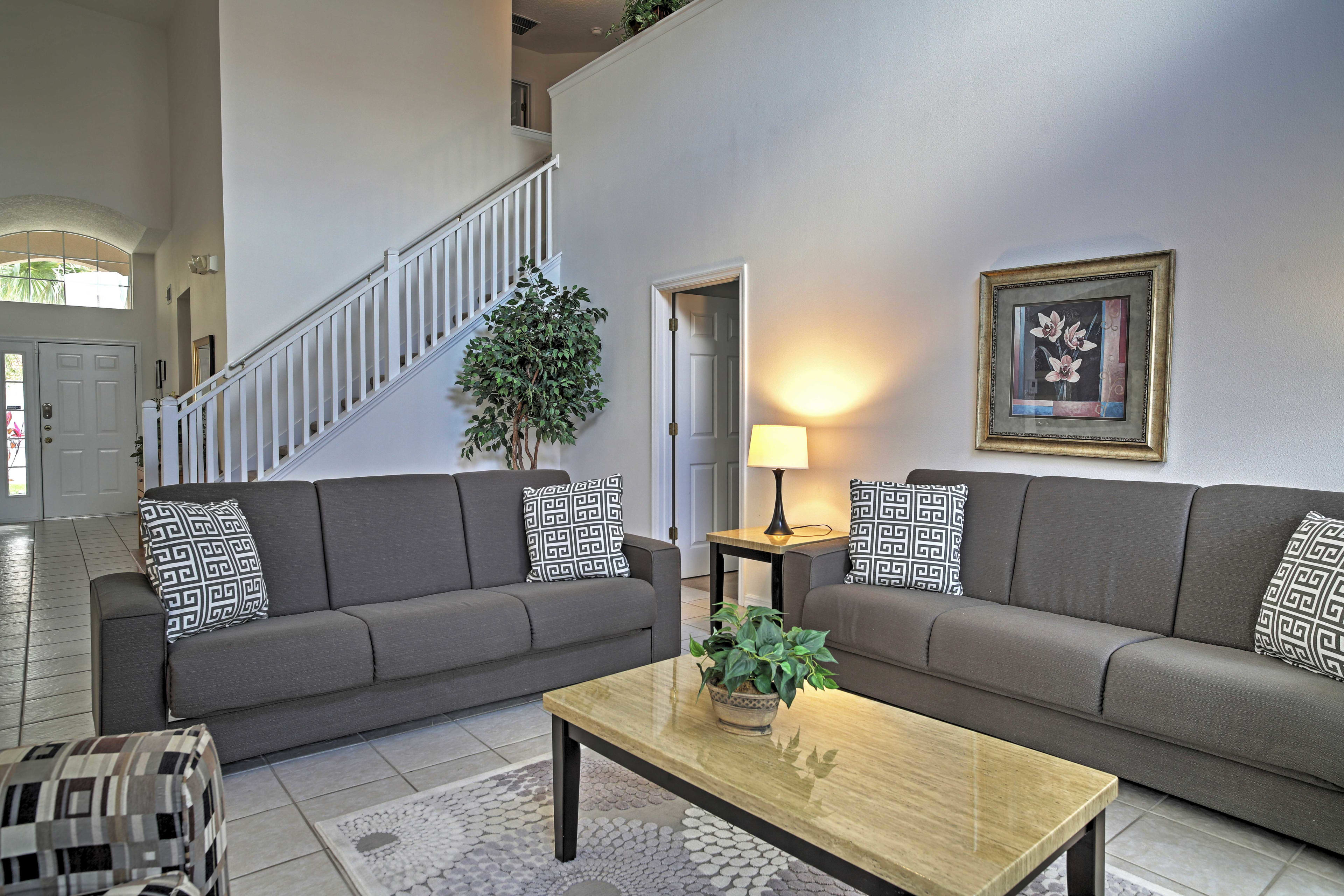 Unwind on the plush sofas and settle in!
