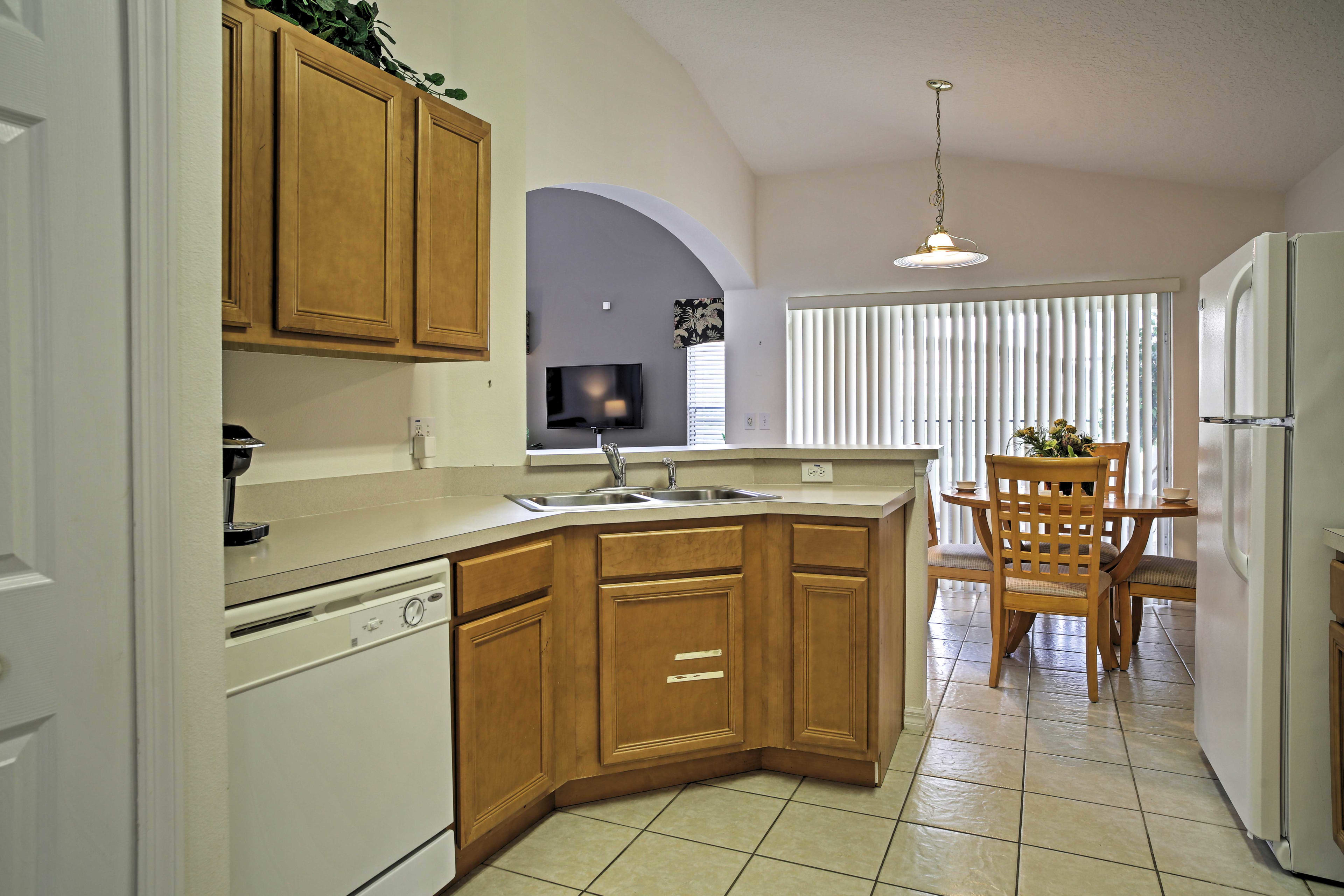 Whip-up your favorite flavors from home in this fully equipped kitchen.