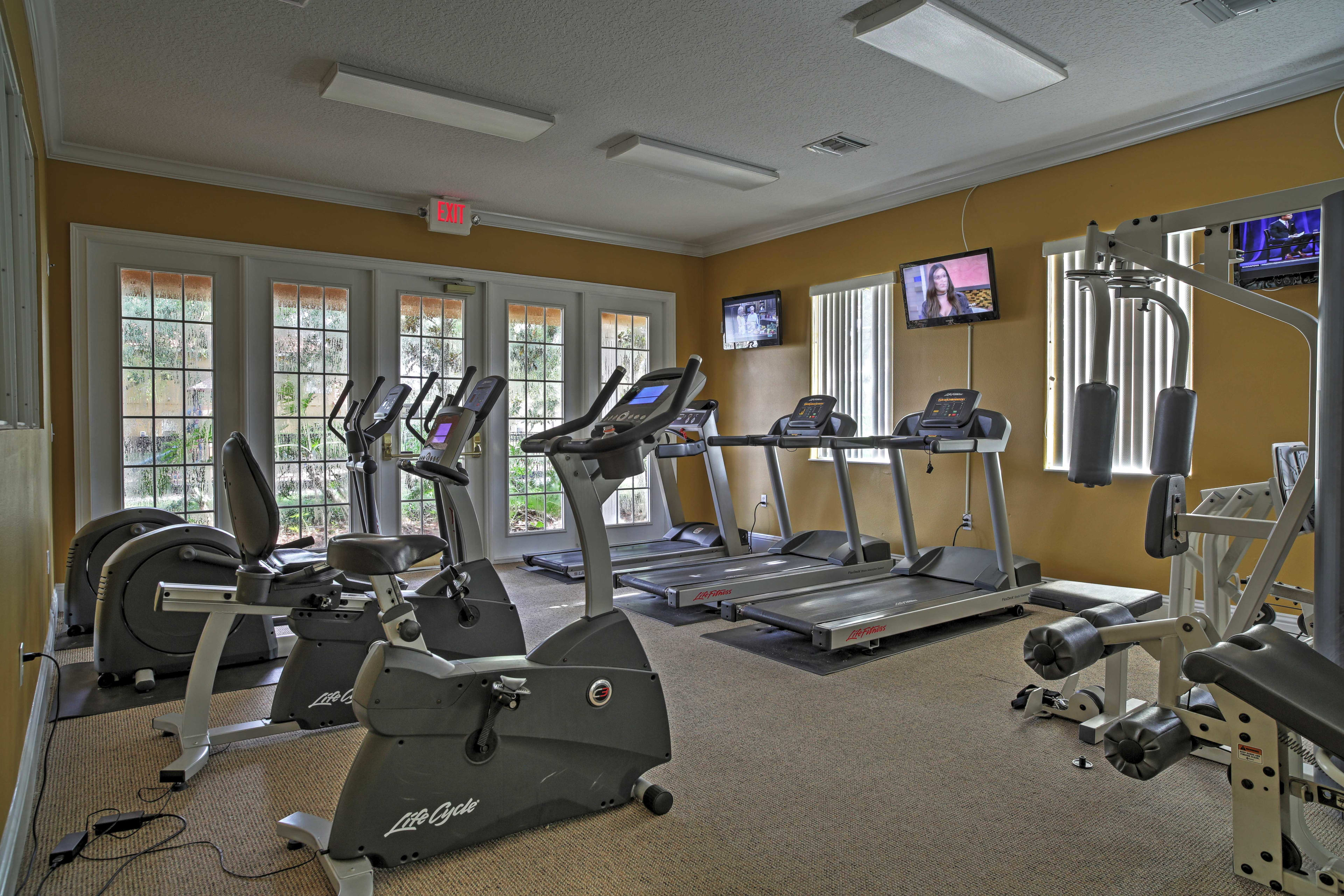 Stay true to your workout routine in the community fitness center.