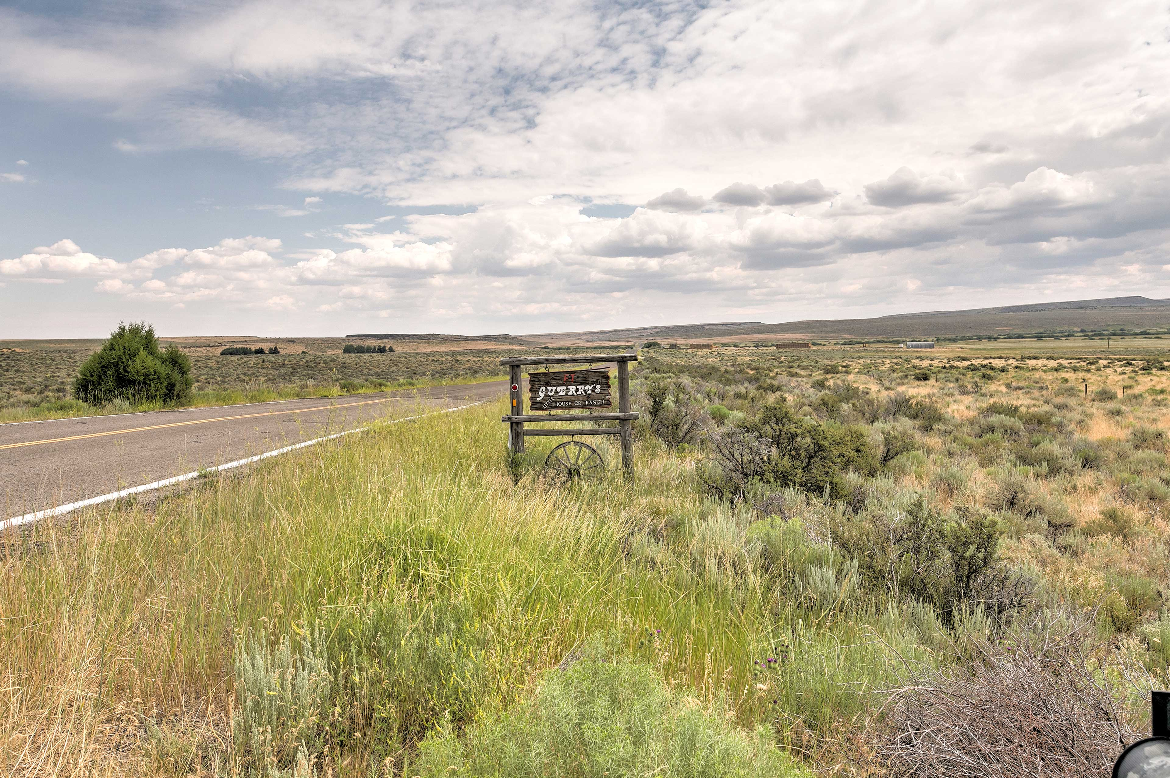 This home is situated on a picturesque cattle ranch, 25 miles from Rogerson.