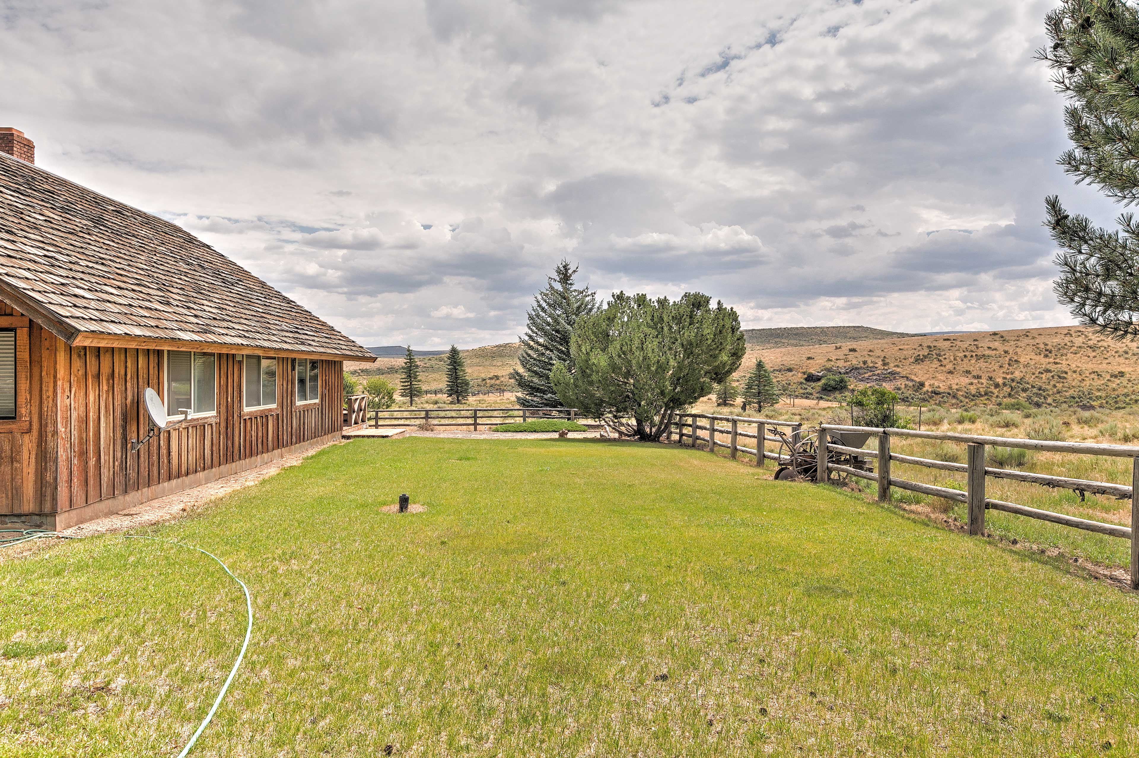 This home sits on several hundred private acres with views of Elk Mountain!