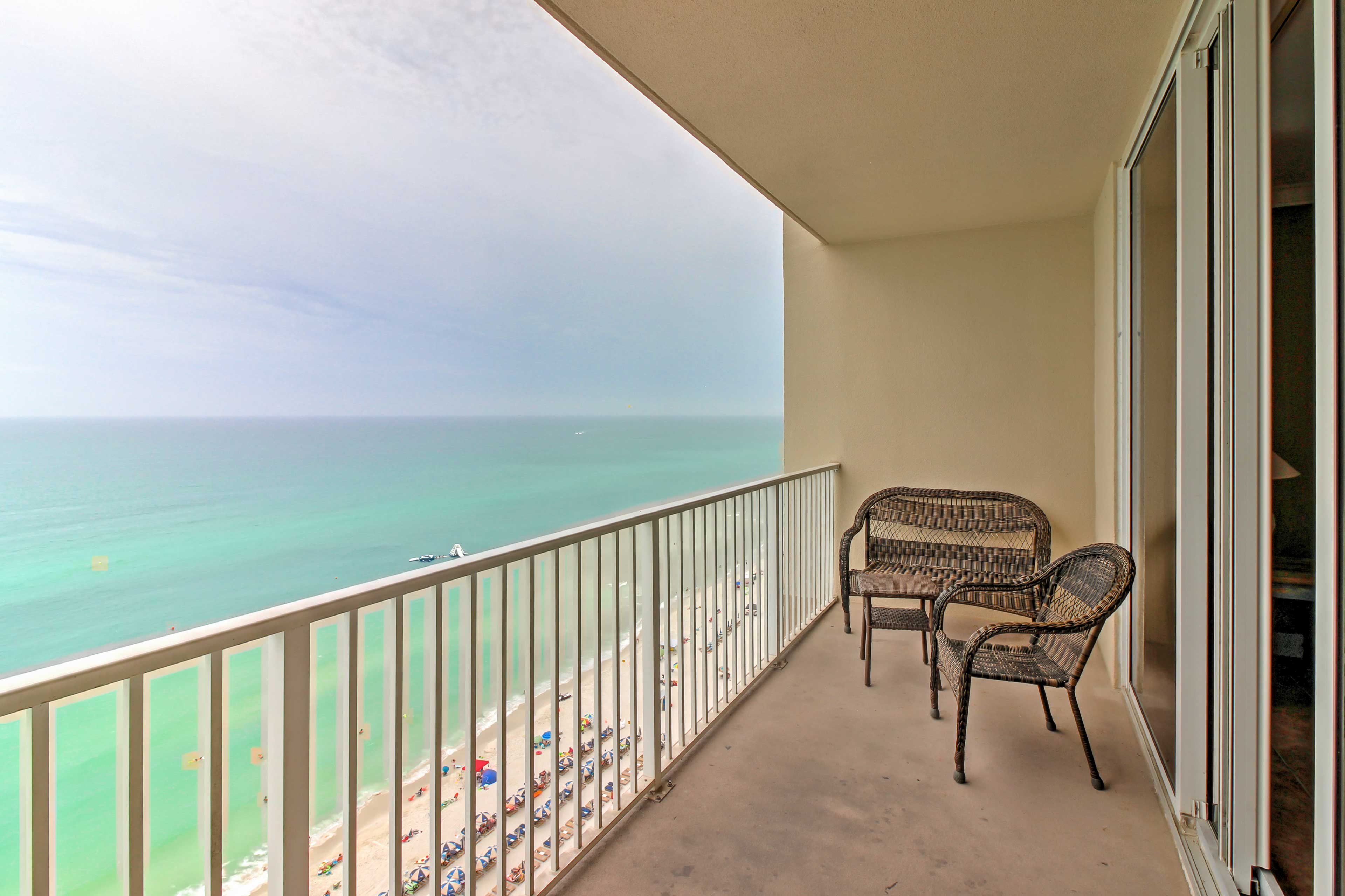 Soak in the ocean views from your private balcony.