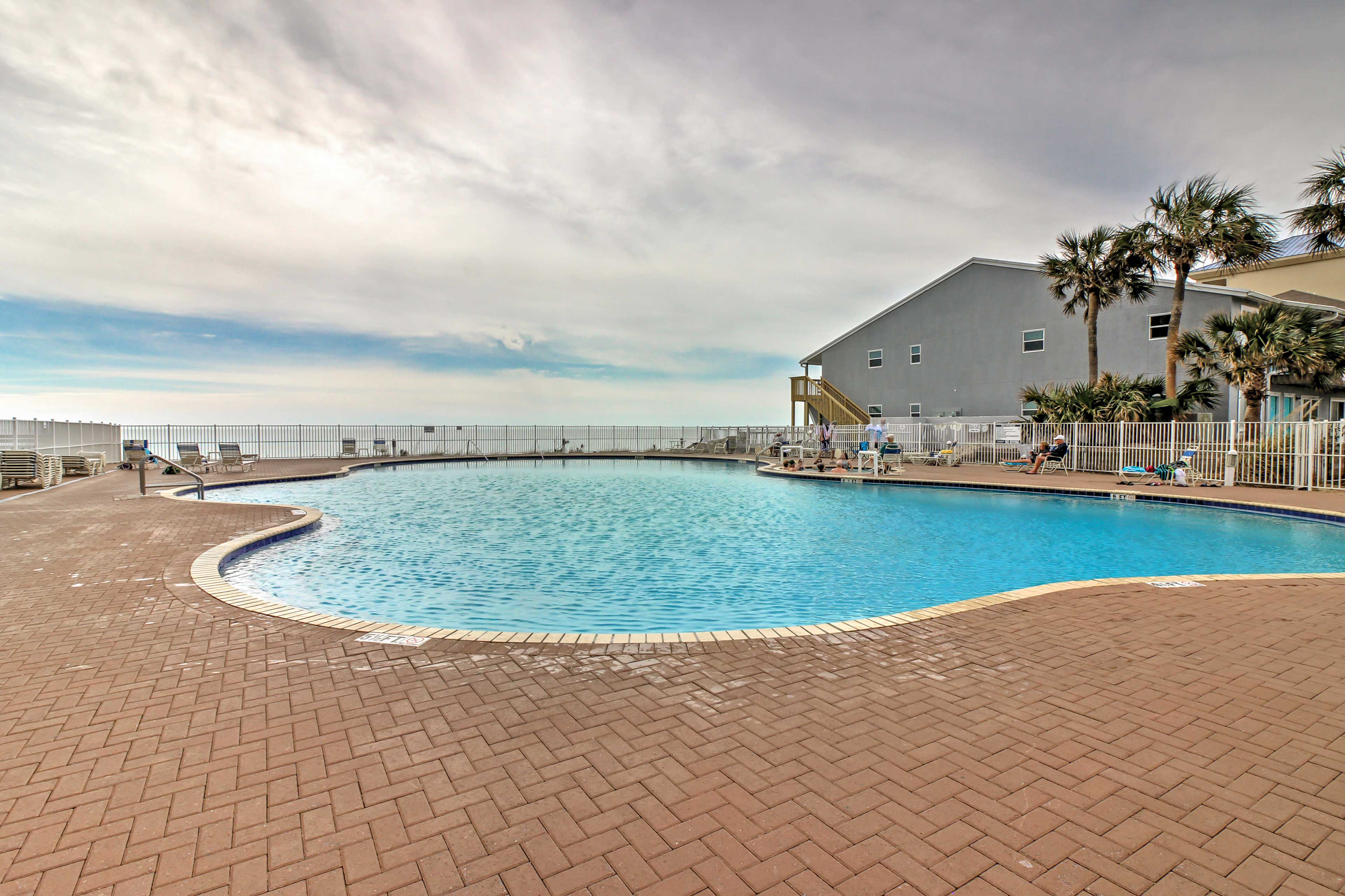 The condo is located in the Tidewater Beach Resort.