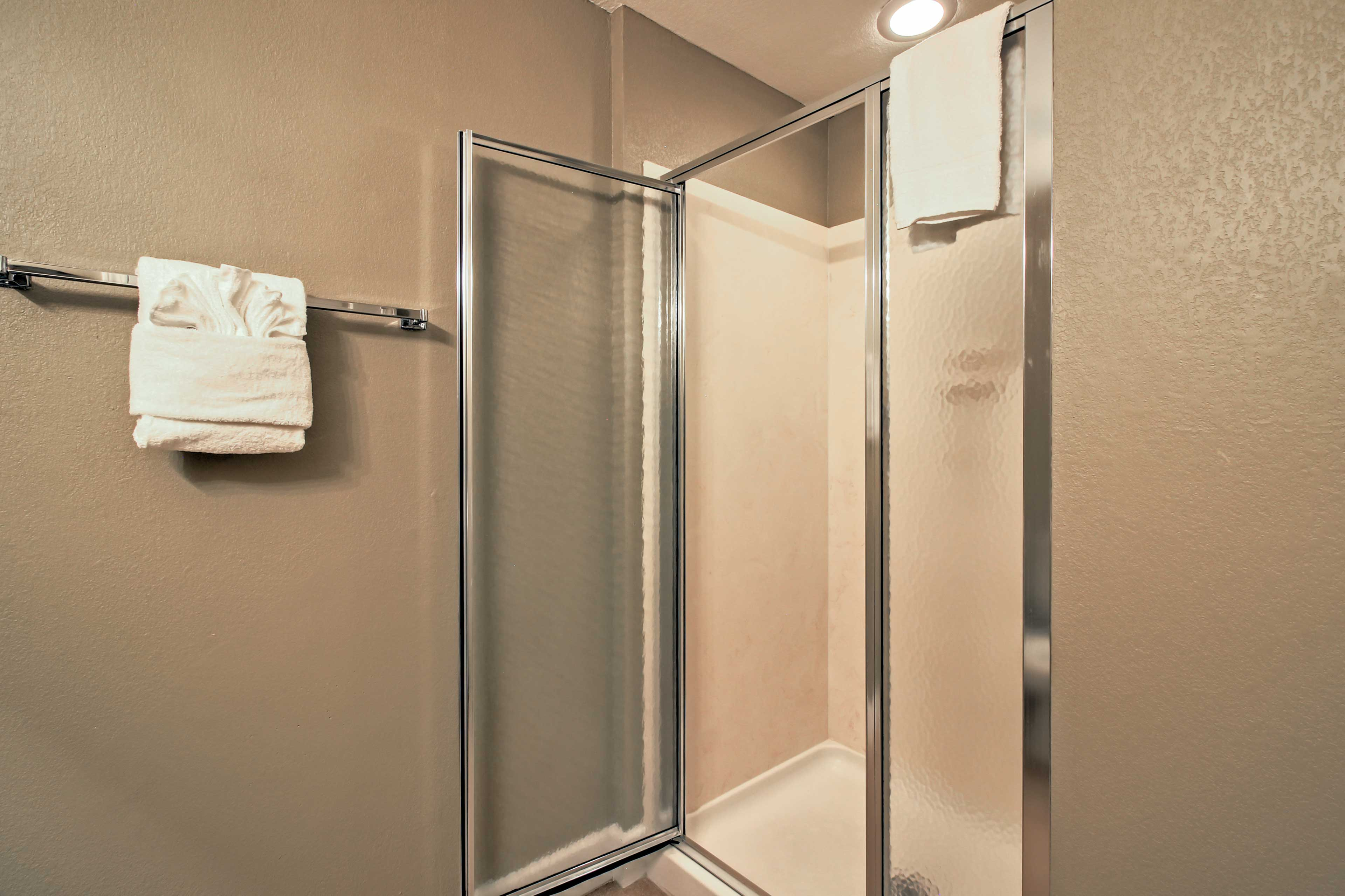 Rinse and refresh in the walk-in shower.