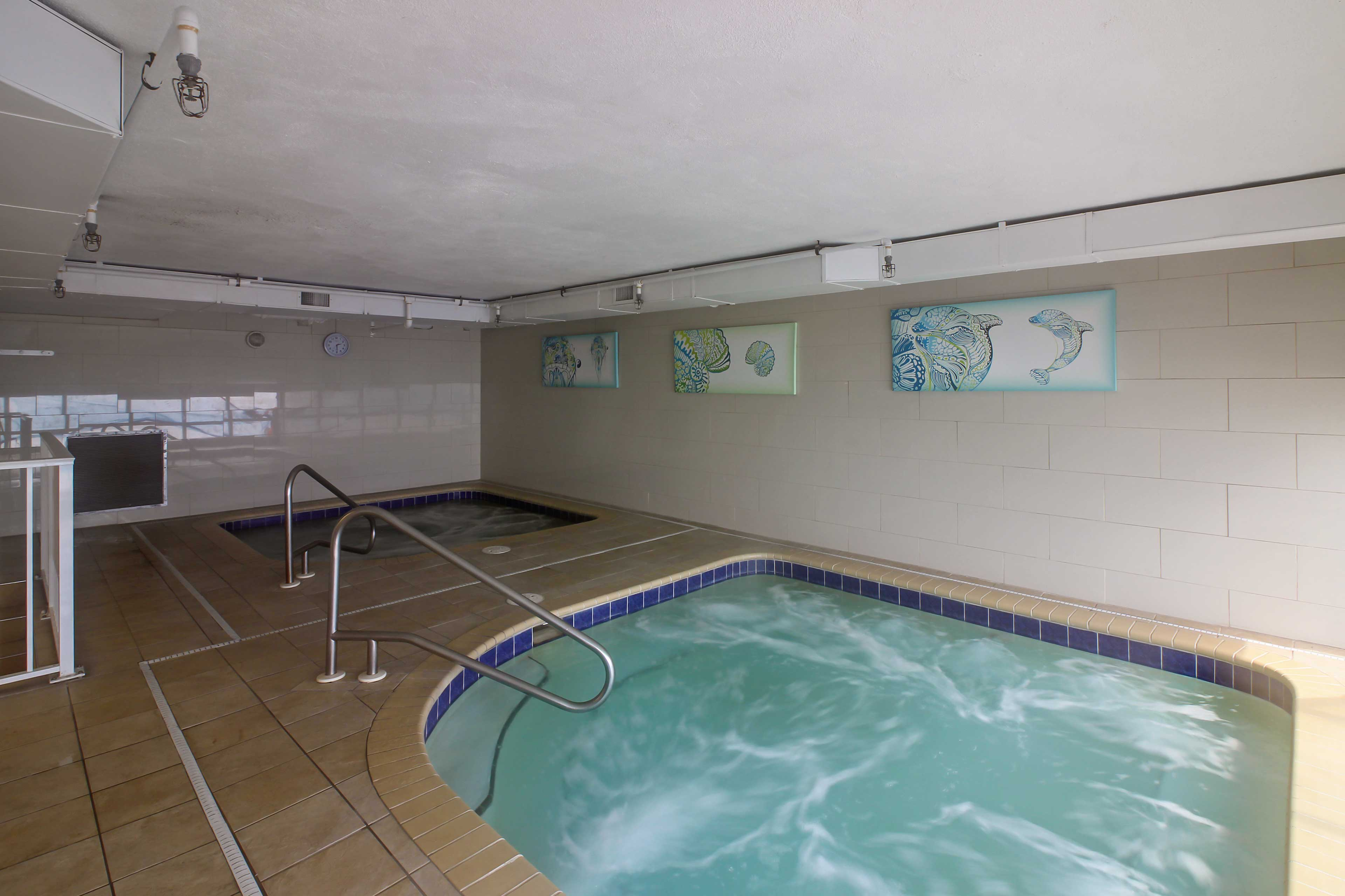 Soak your muscles in the community hot tub.