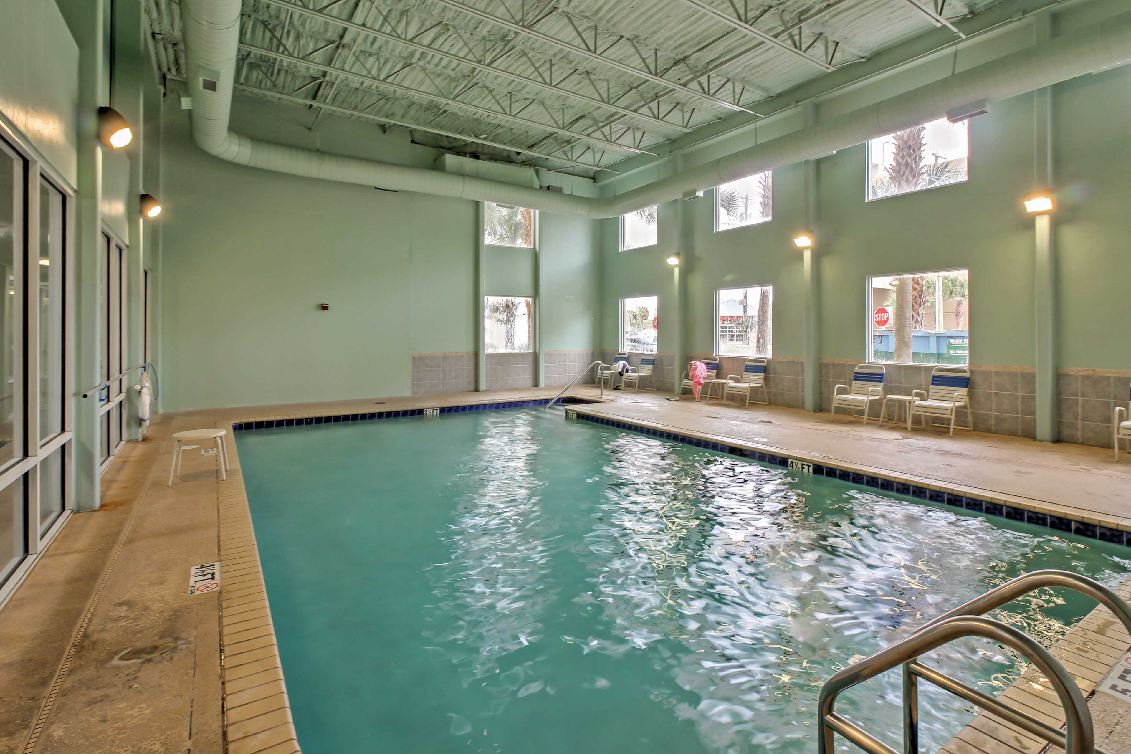 The resort has an indoor pool in addition to 2 outdoor pools.