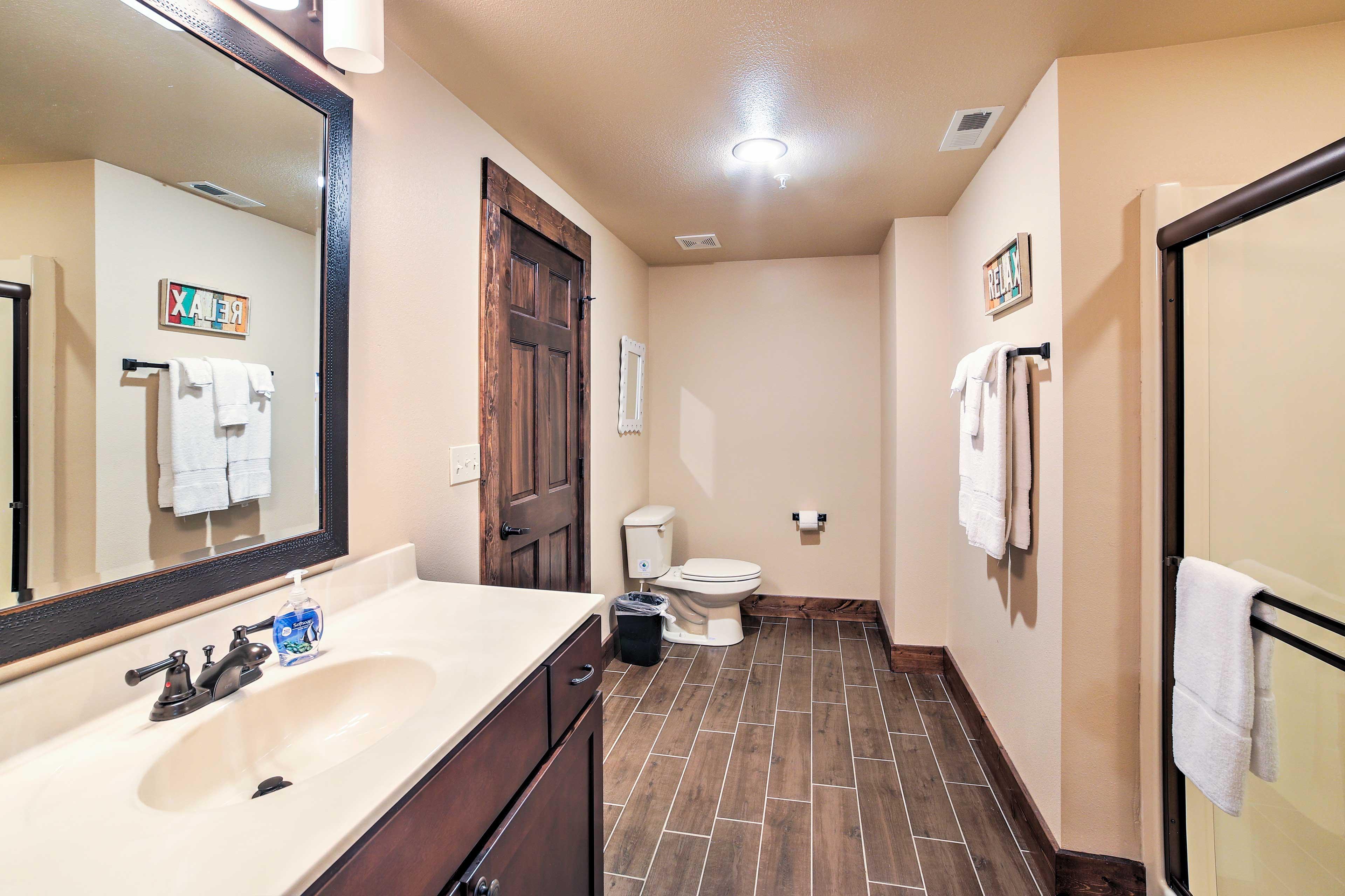 The home boasts 8.5 bathrooms!
