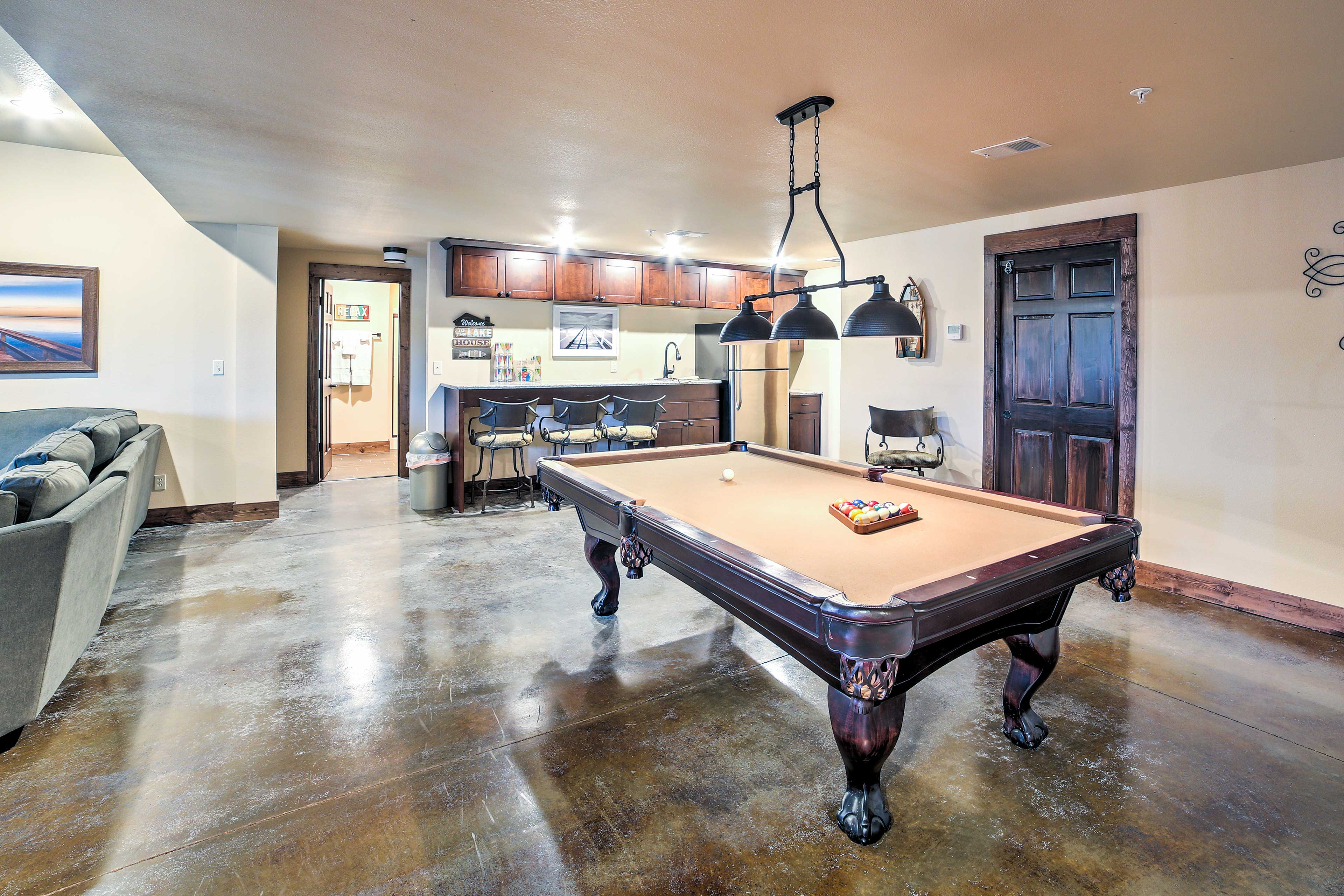 Challenge your travel companions to a game of pool in the game room!