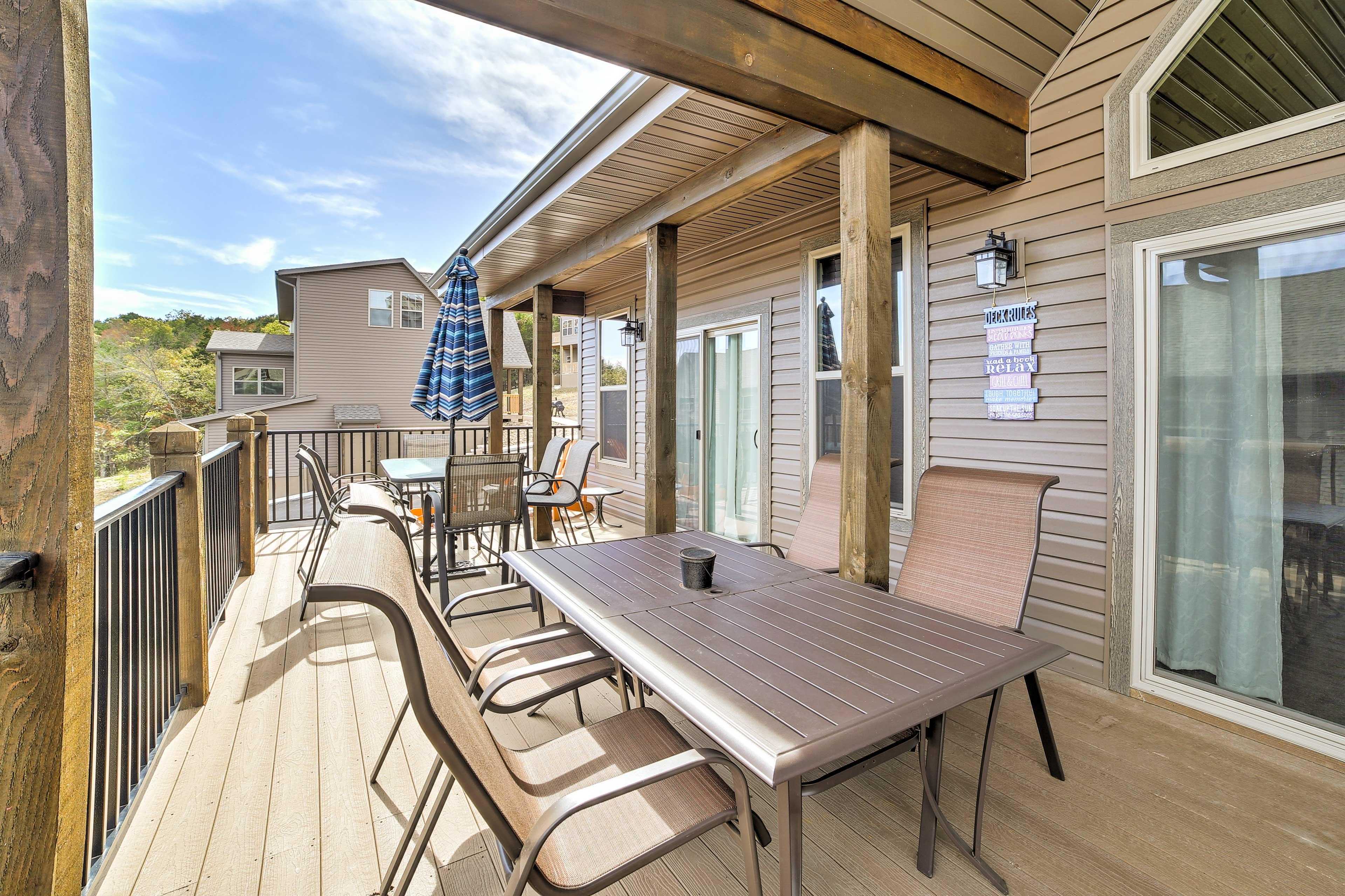 Dine al fresco on this spacious deck!