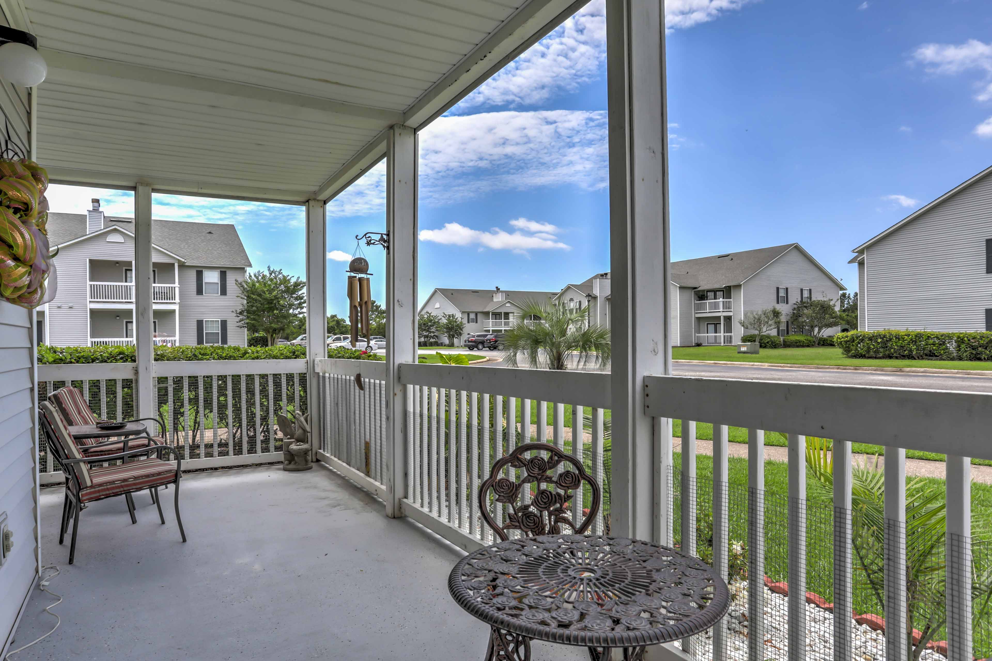 Spend peaceful afternoons relaxing on your porch while enjoying the fresh breeze.