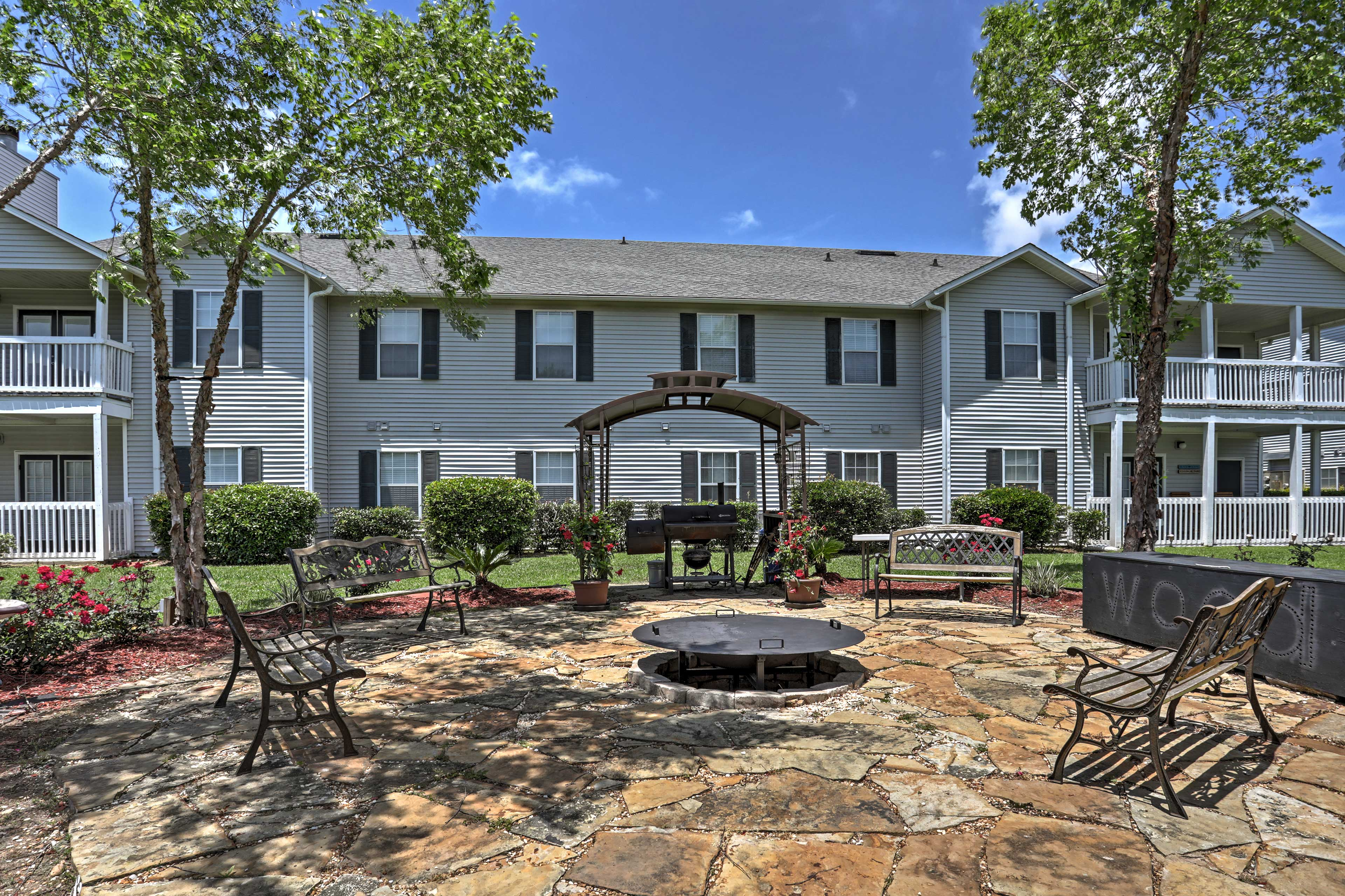 Enjoy access to a courtyard and grilling area.