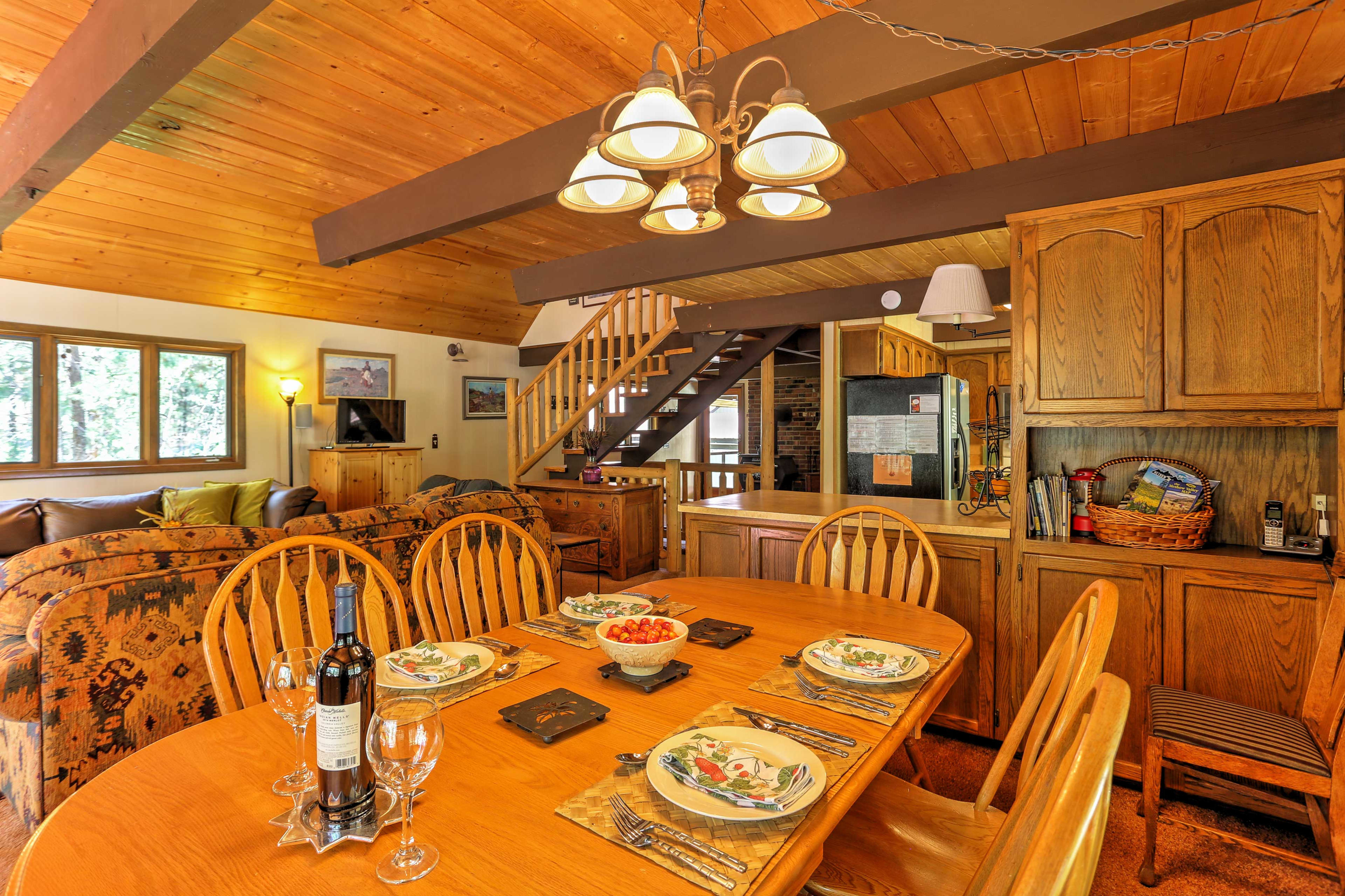 Enjoy your favorite meals at the dining room table.