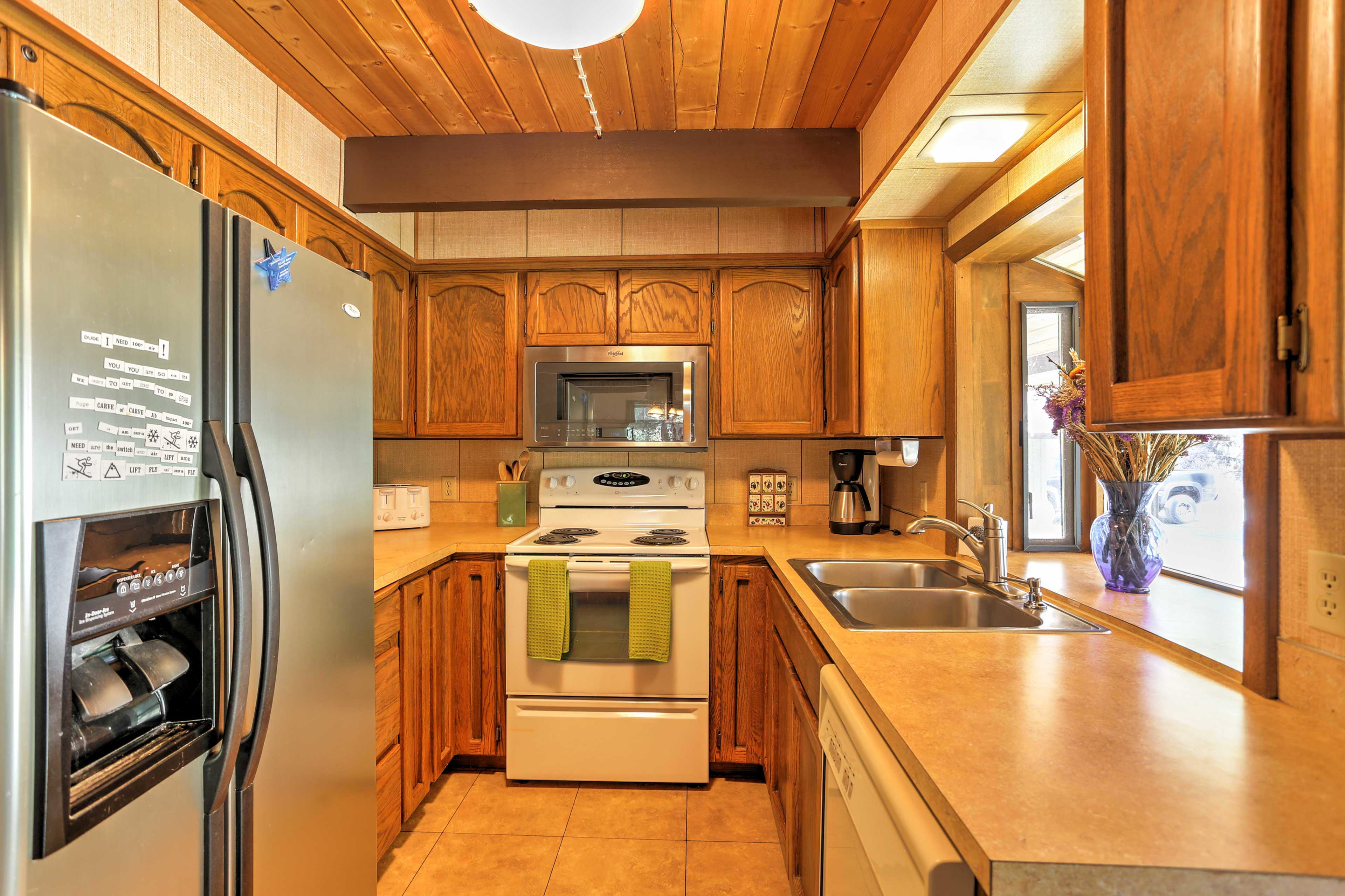 Whip up your favorite recipes in the fully equipped kitchen during your stay!