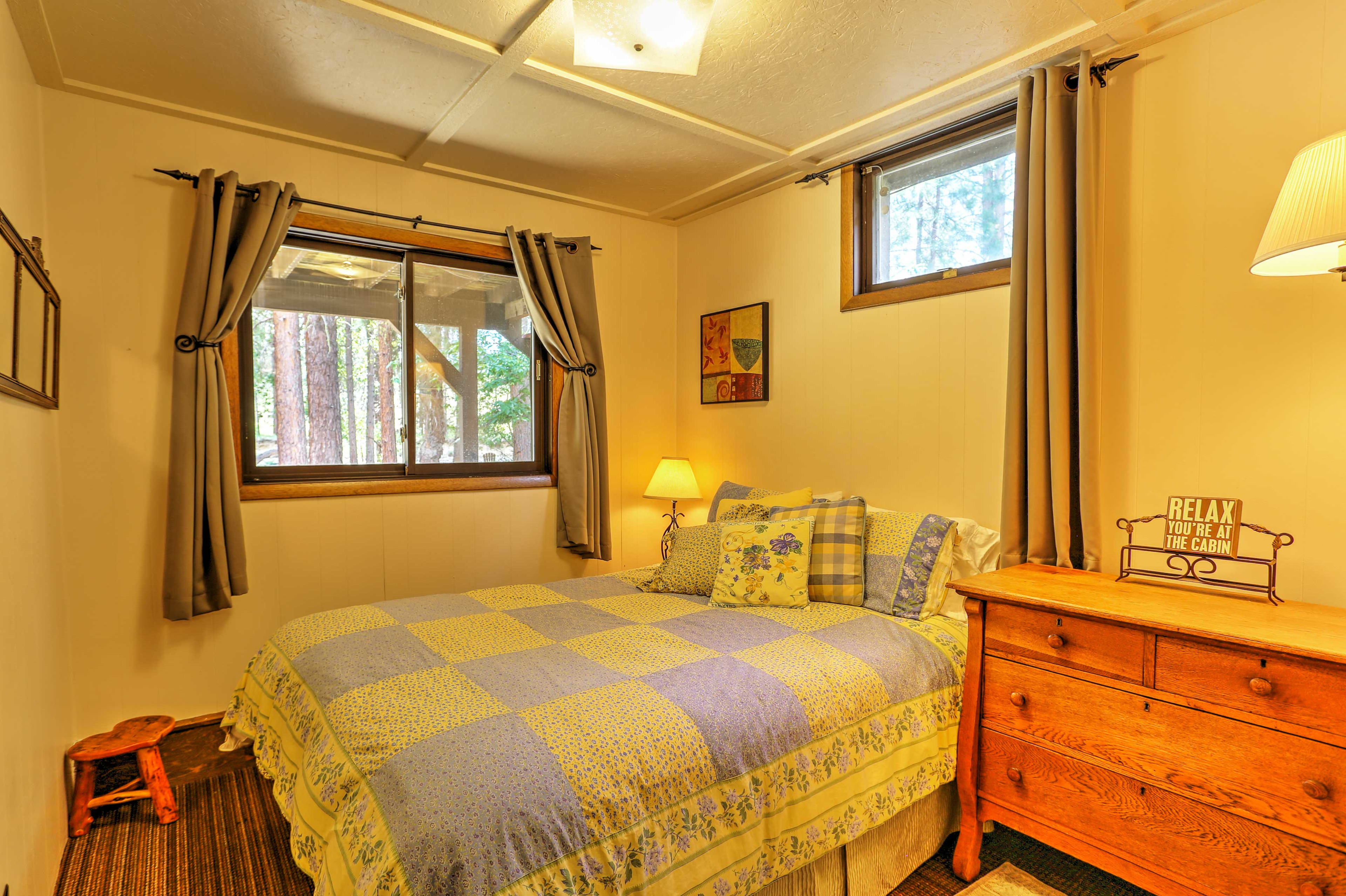 The second bedroom also provides a queen-sized bed.