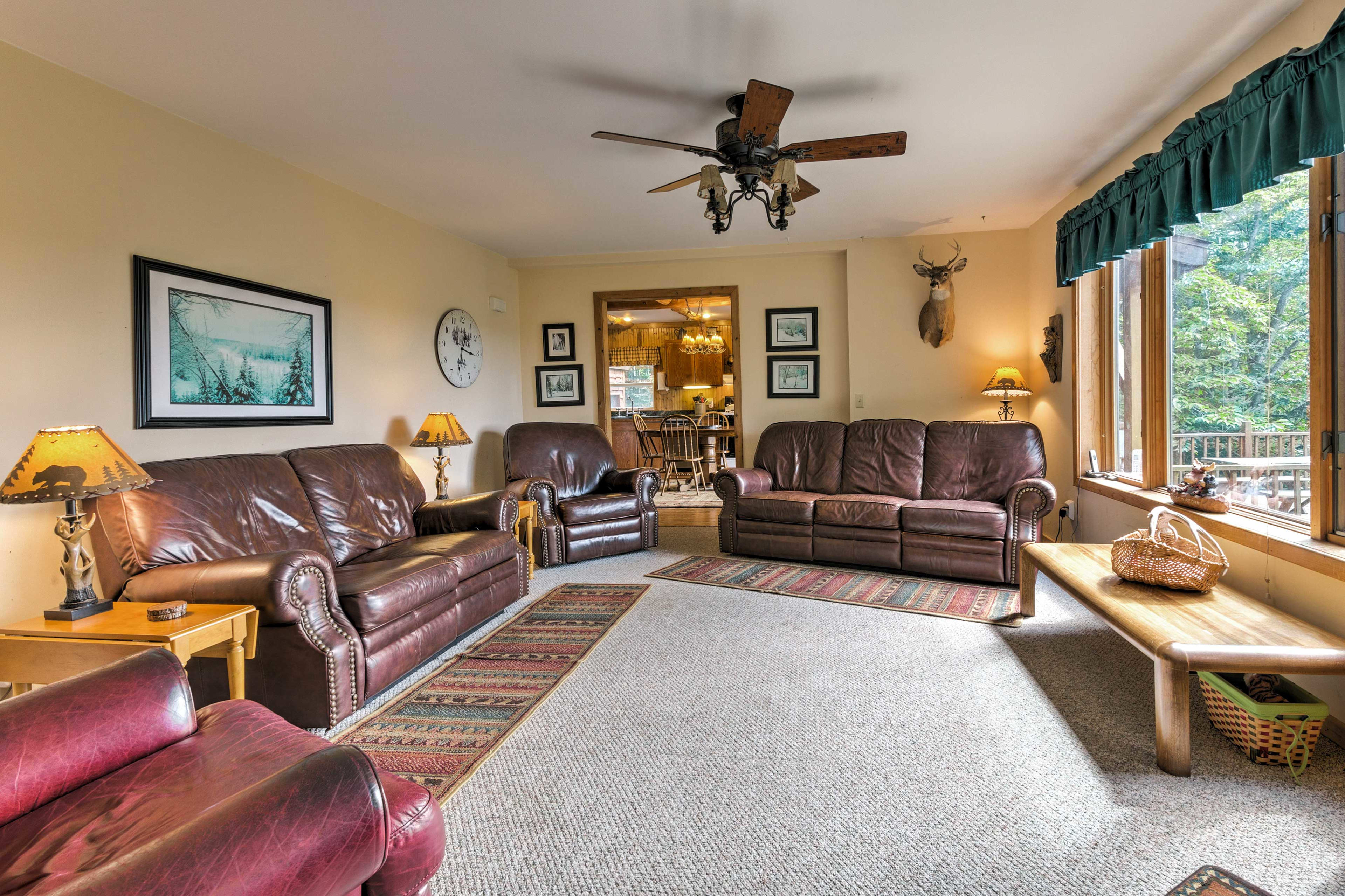 Relax with your loved ones in the living room.