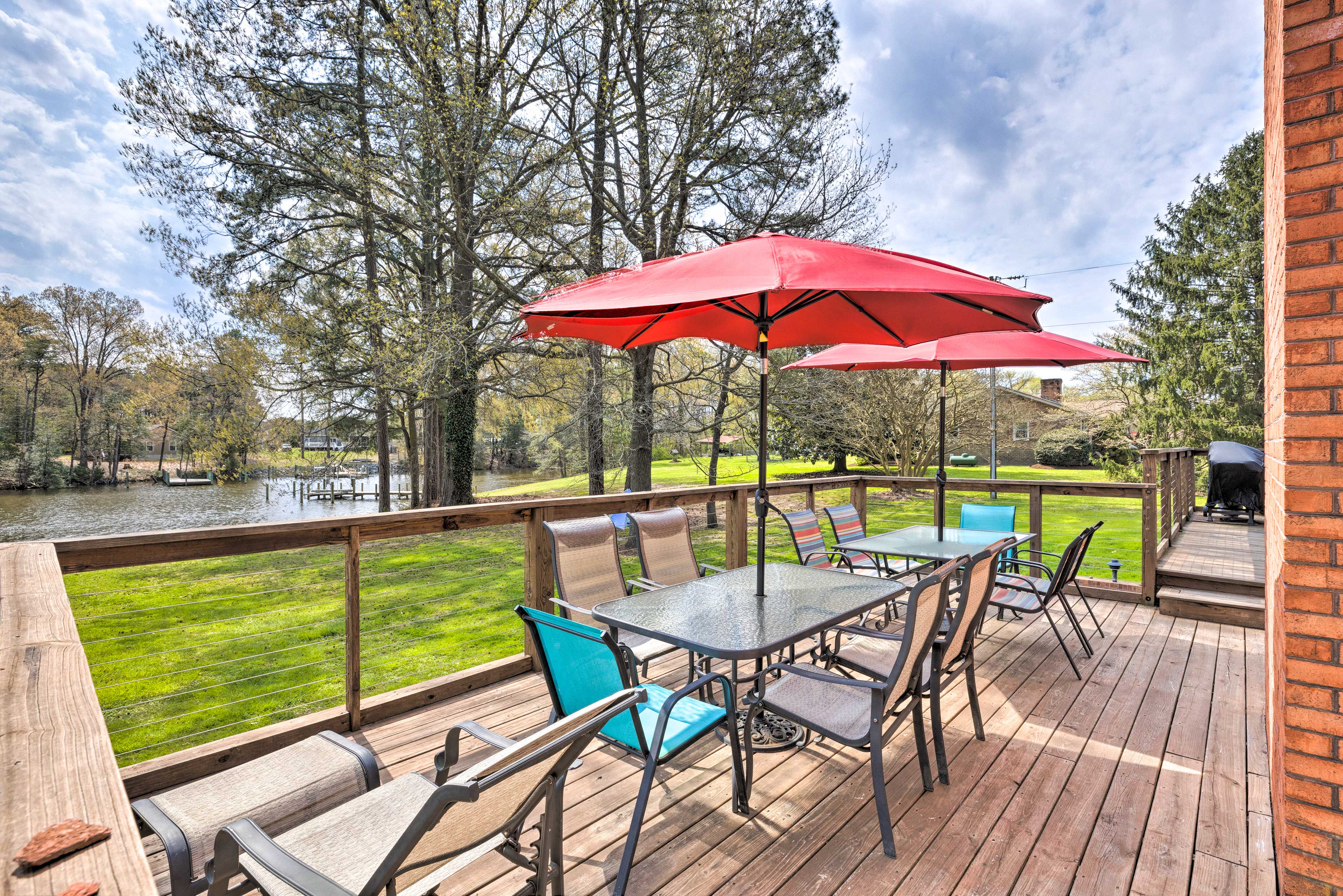 Private Deck   Cooler   Cooler   Gas & Charcoal Grills