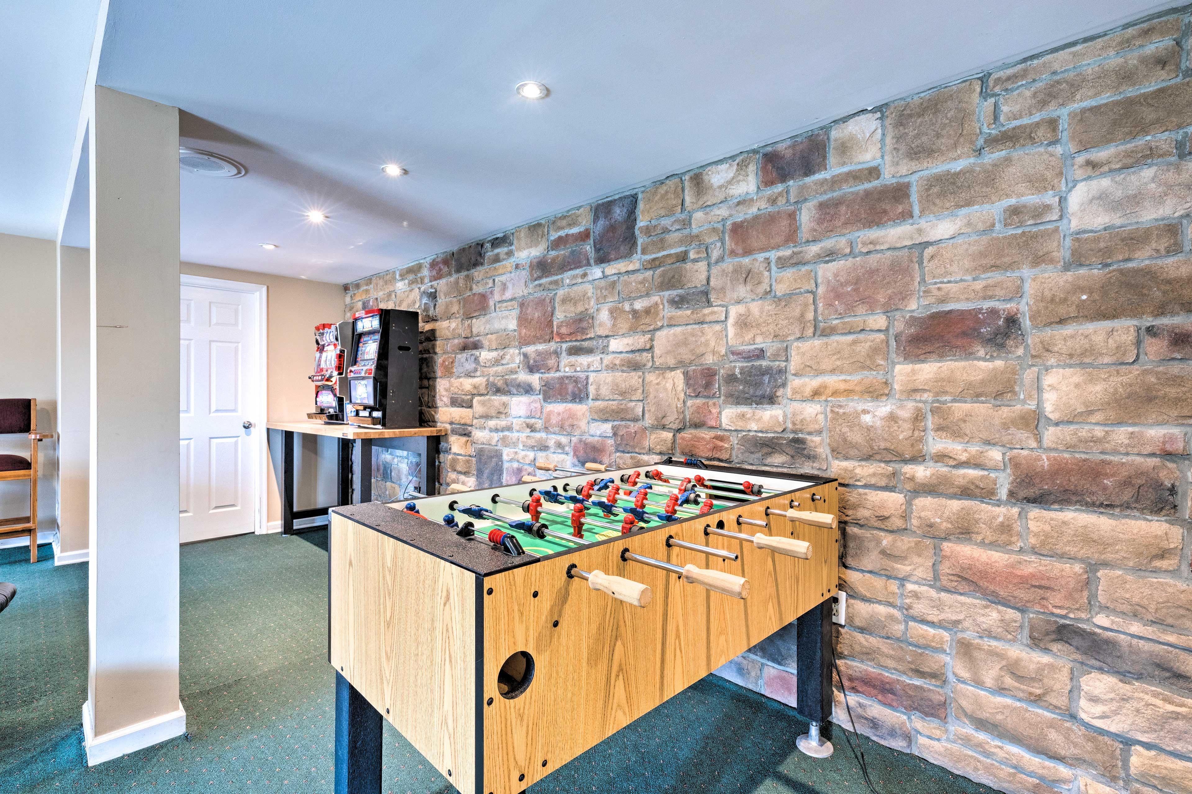 Downstairs Game Room   Foosball Table