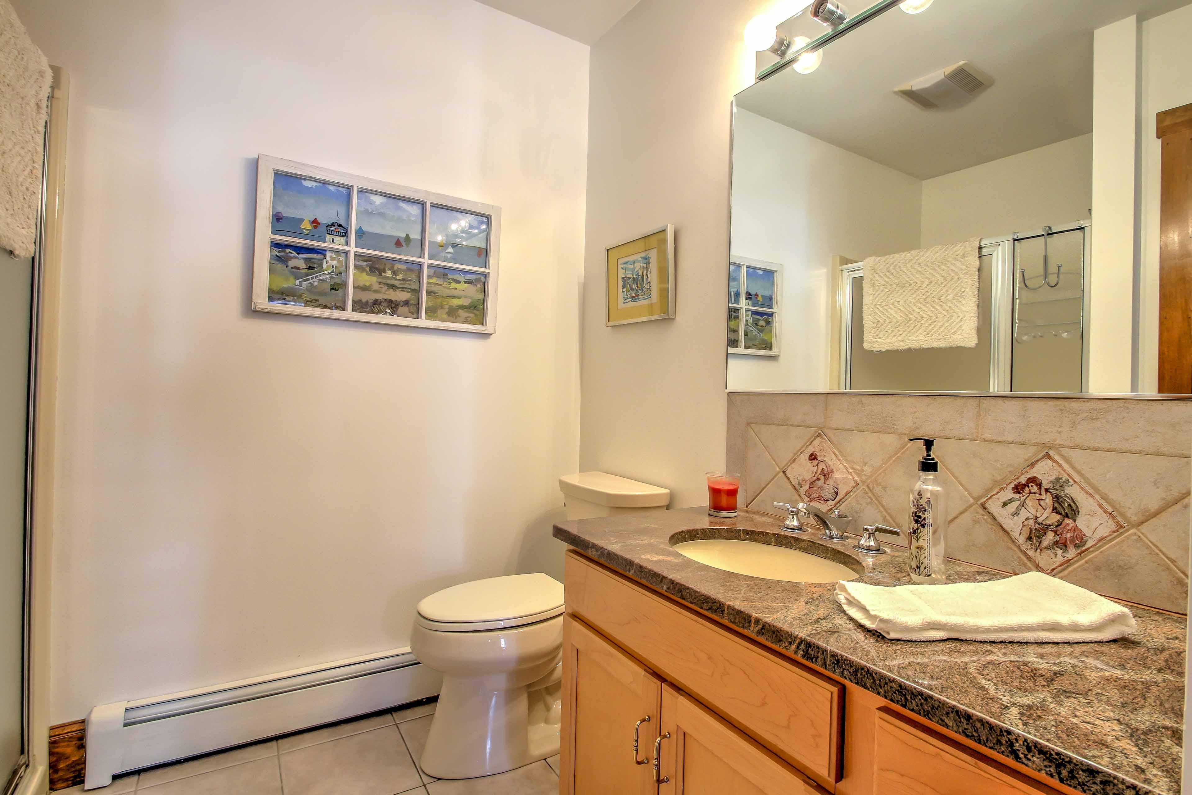 This home has 5 pristine bathrooms.