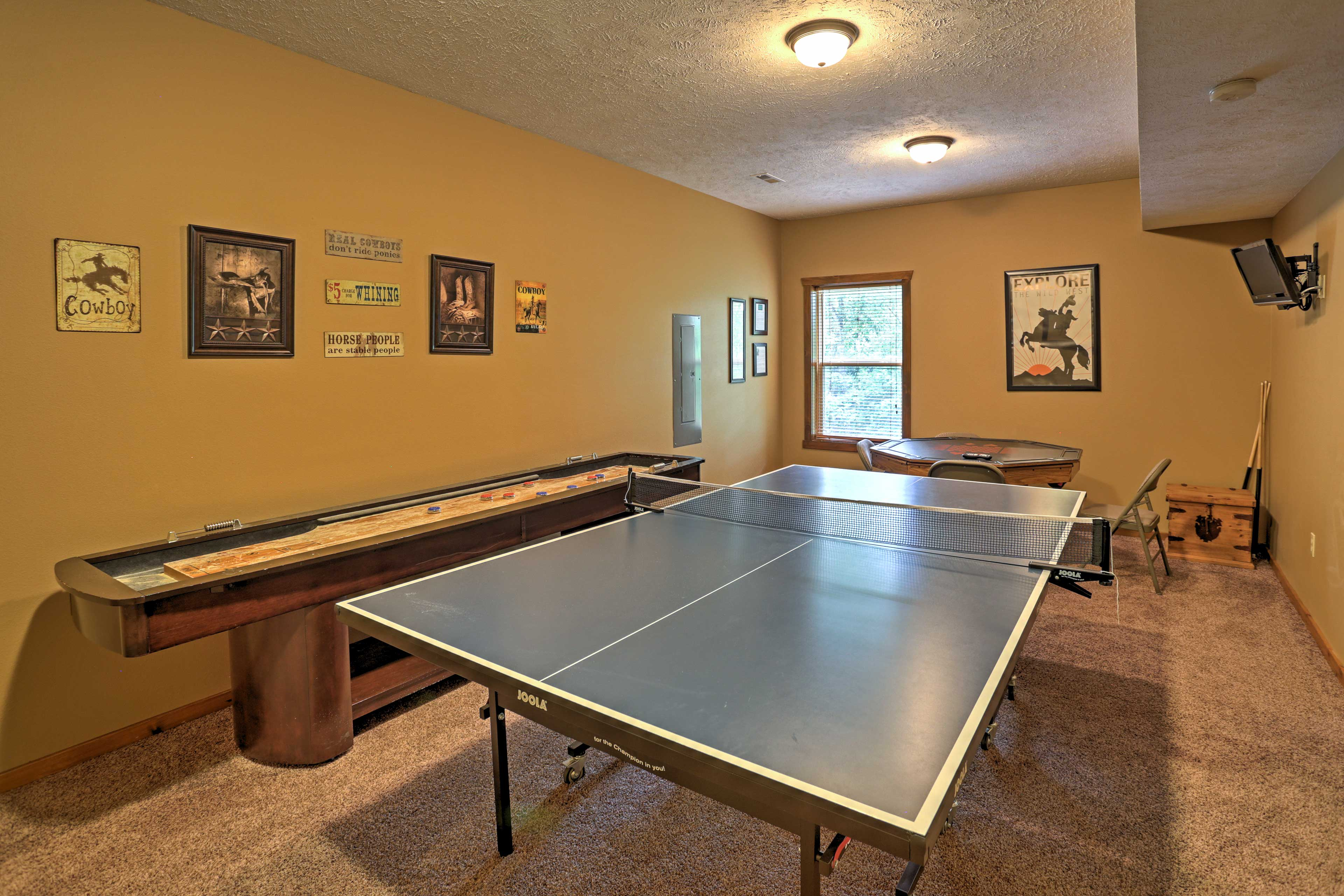 Game Room | Ping Pong Table | Card Table | Shuffleboard Table