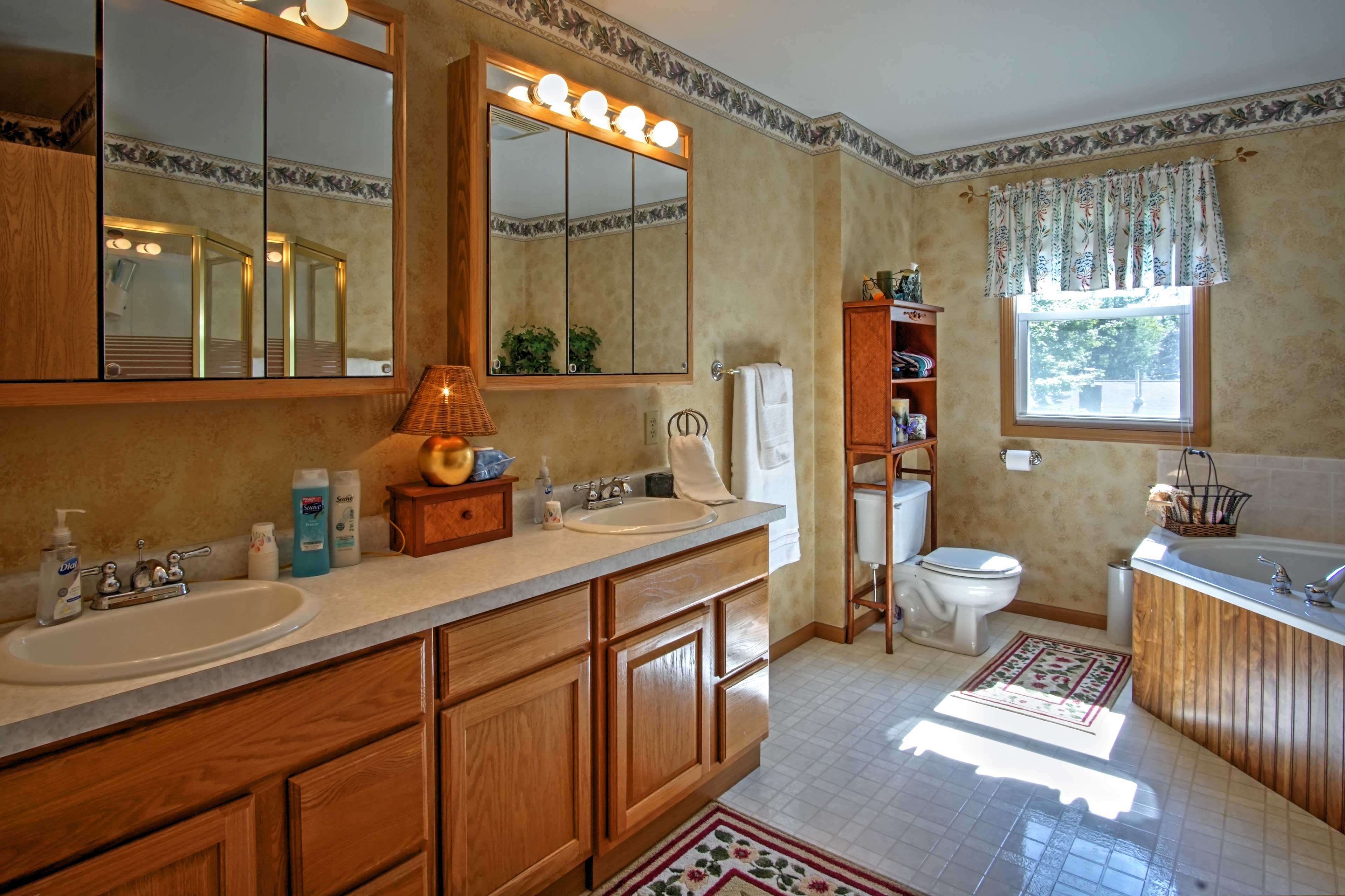 You can look forward to getting ready in this spacious en-suite bathroom.
