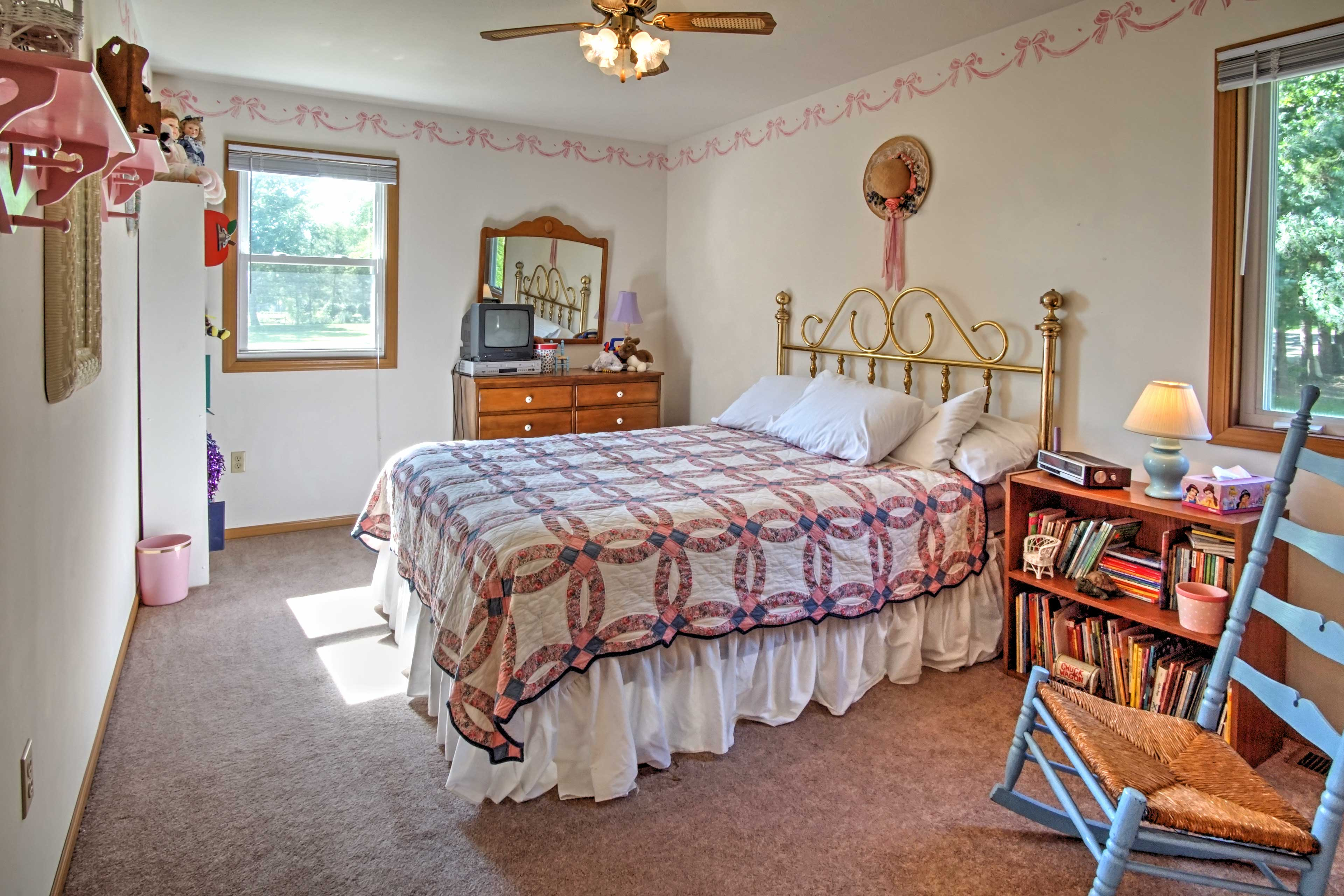 The third bedroom also includes a queen bed.