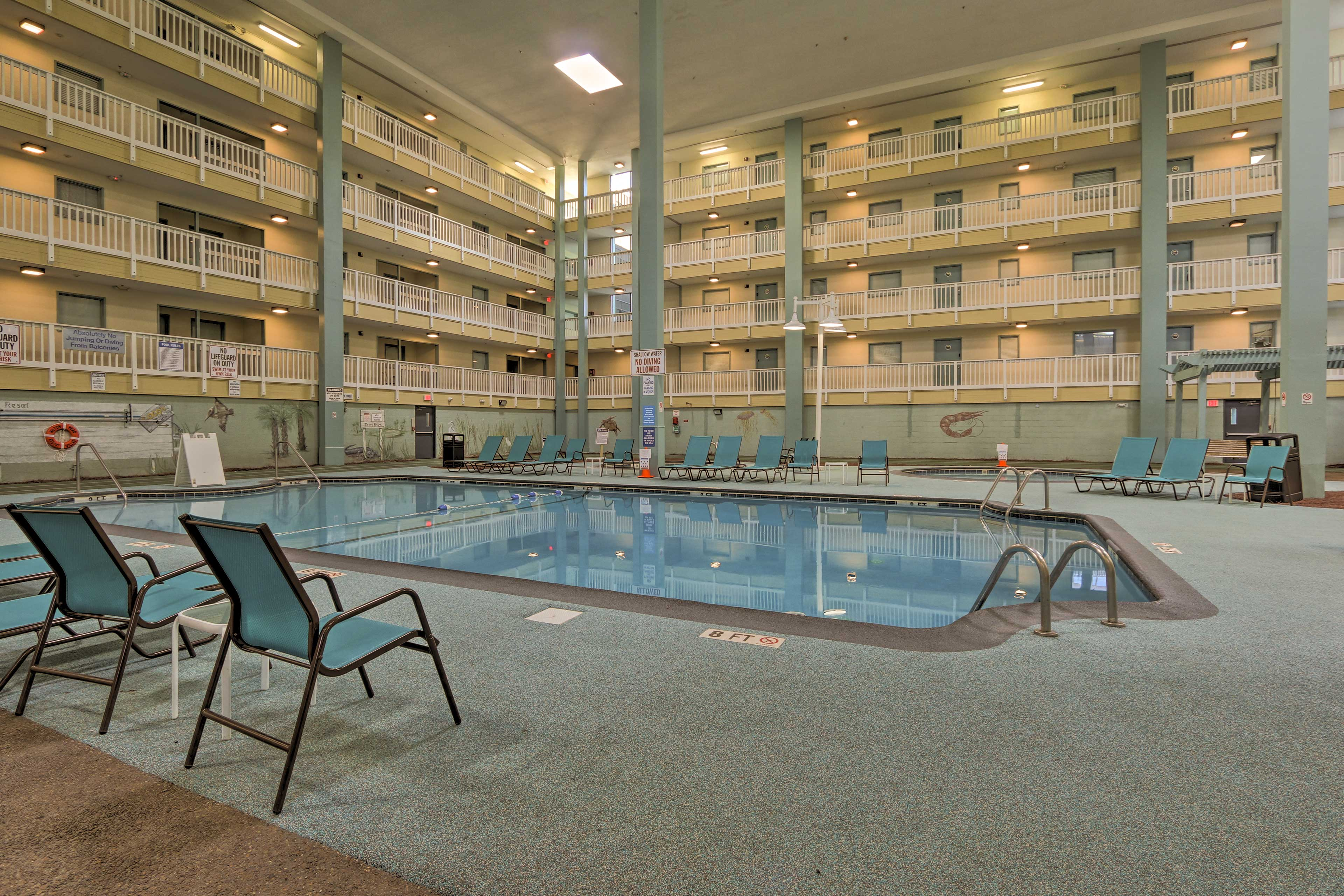 The condo is situated in a complex with both indoor and outdoor amenities!