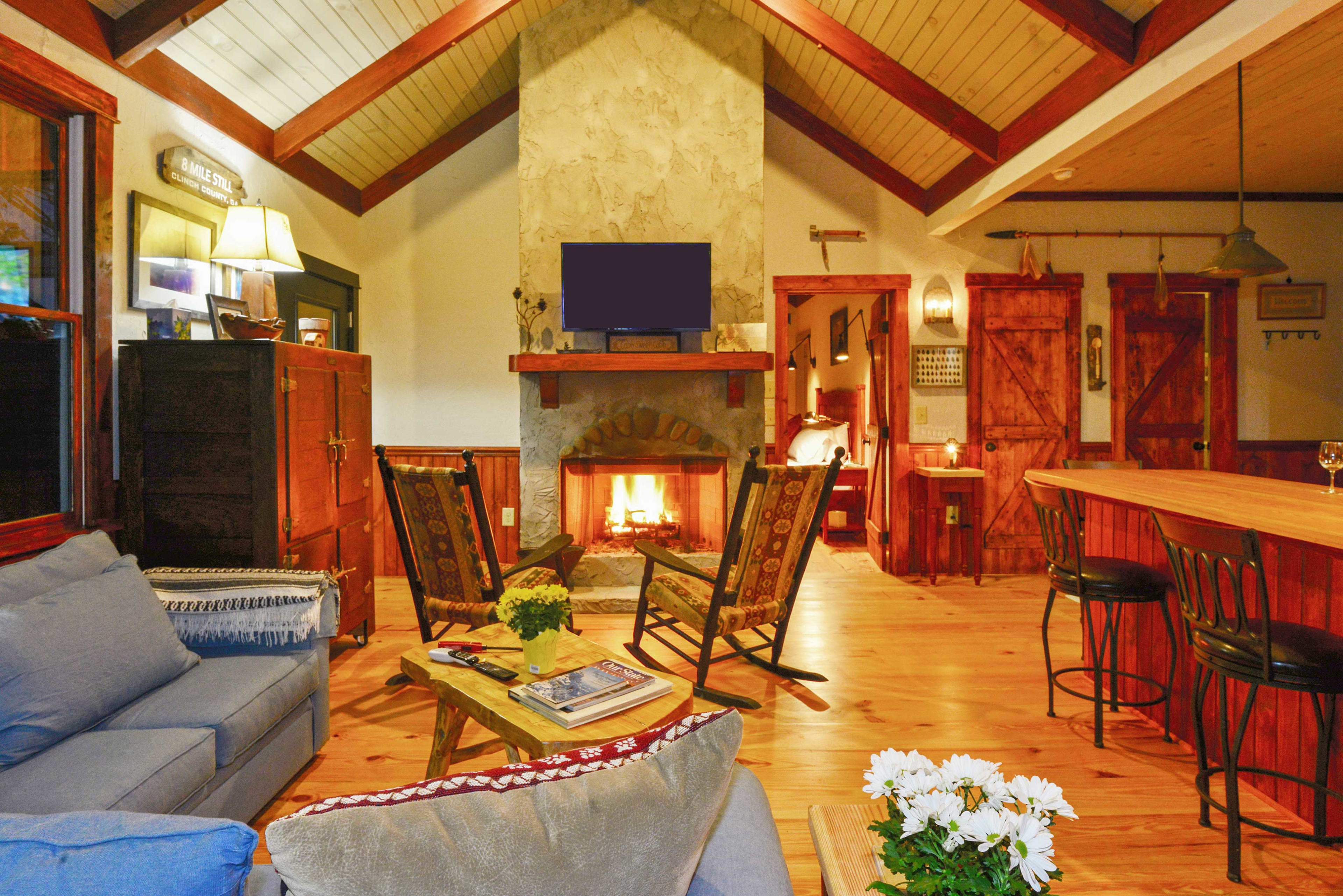 Plenty of seating in the cozy living room.