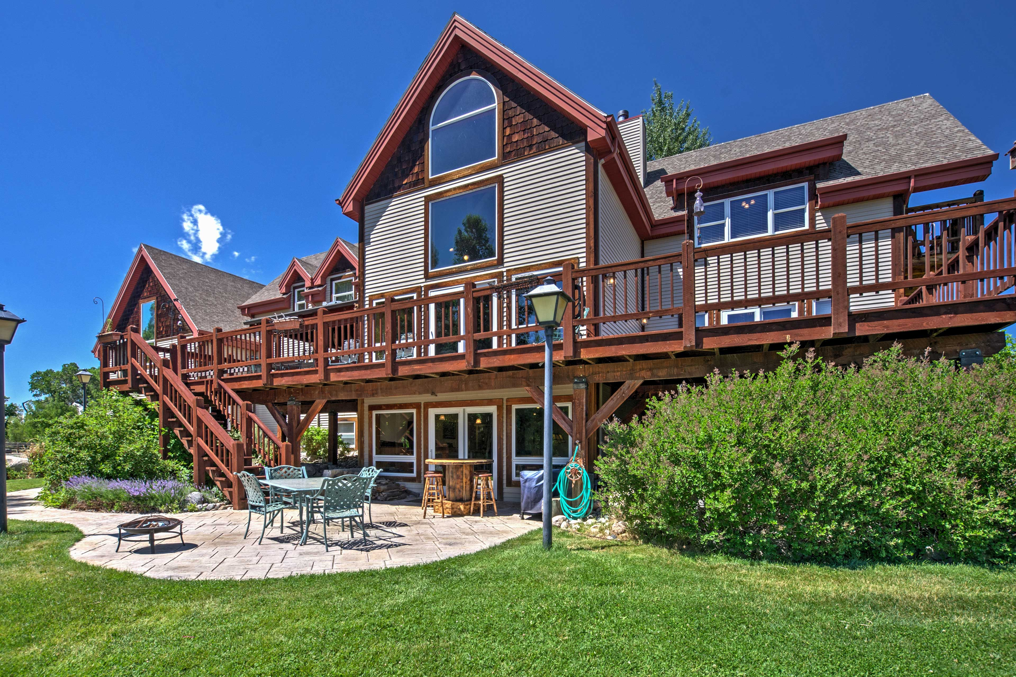 Gather your family and friends and head to this 7BR, 4.5-bath vacation home.