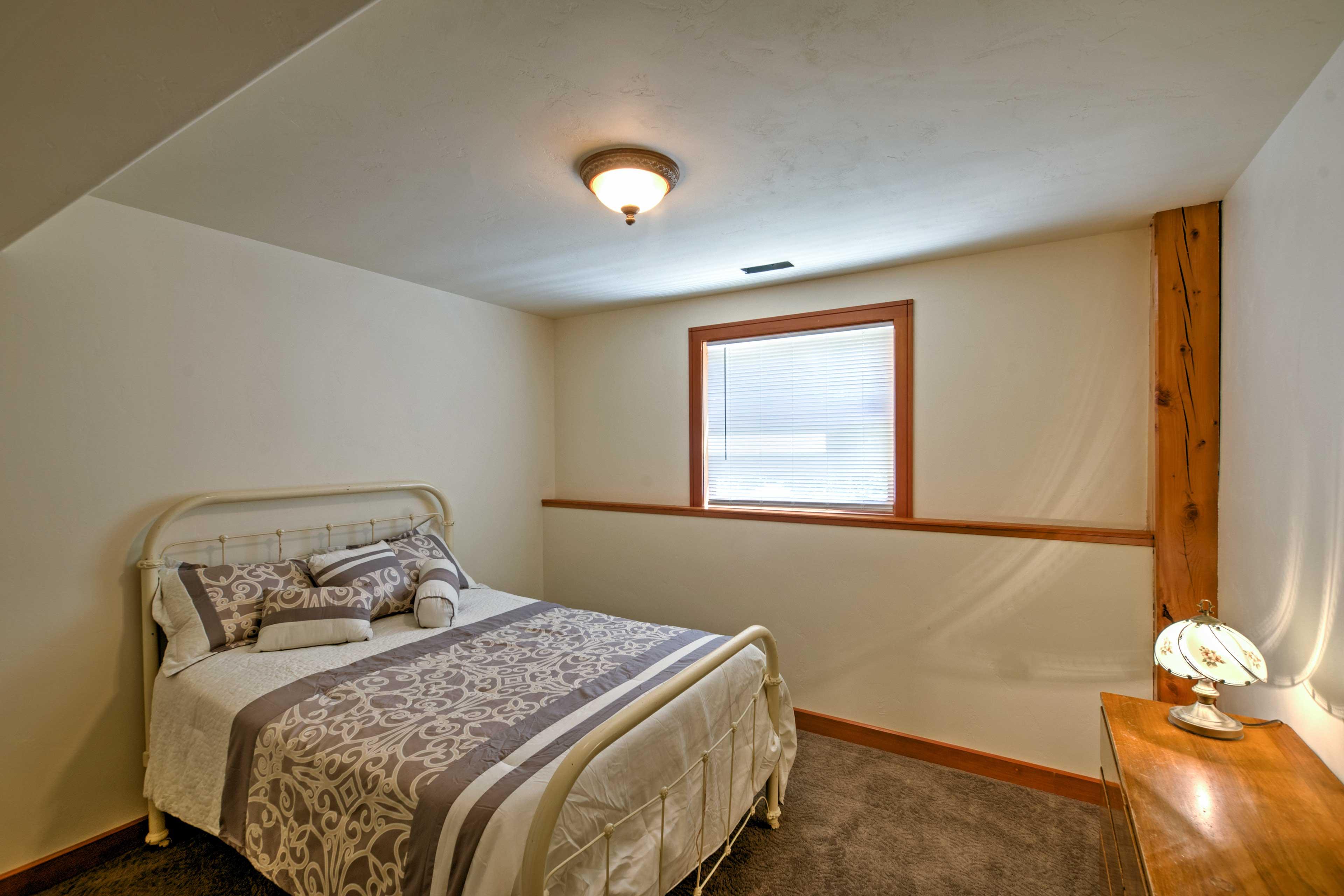 This cozy bedroom sleeps 2.