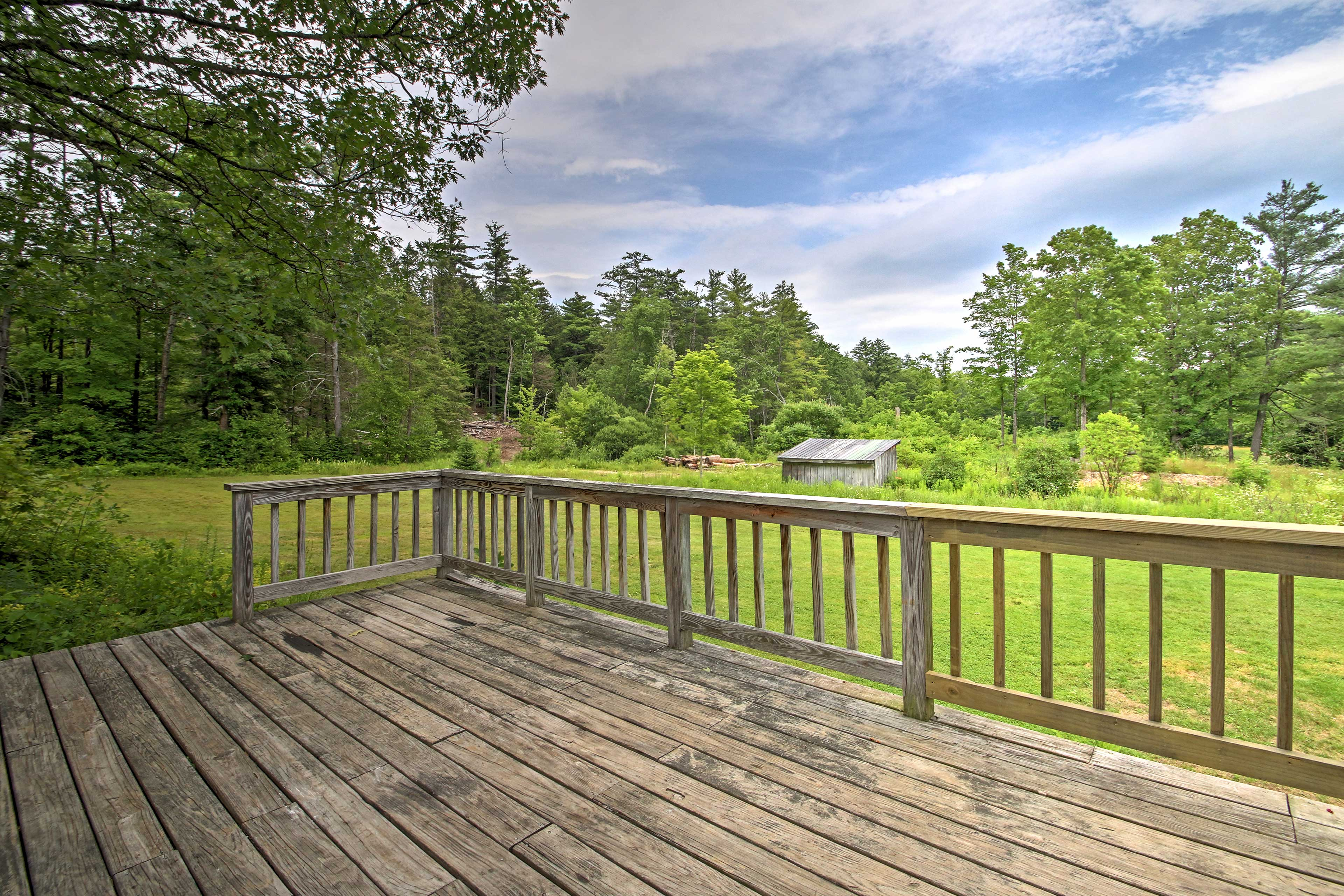 Enjoy the serene natural views from the deck!