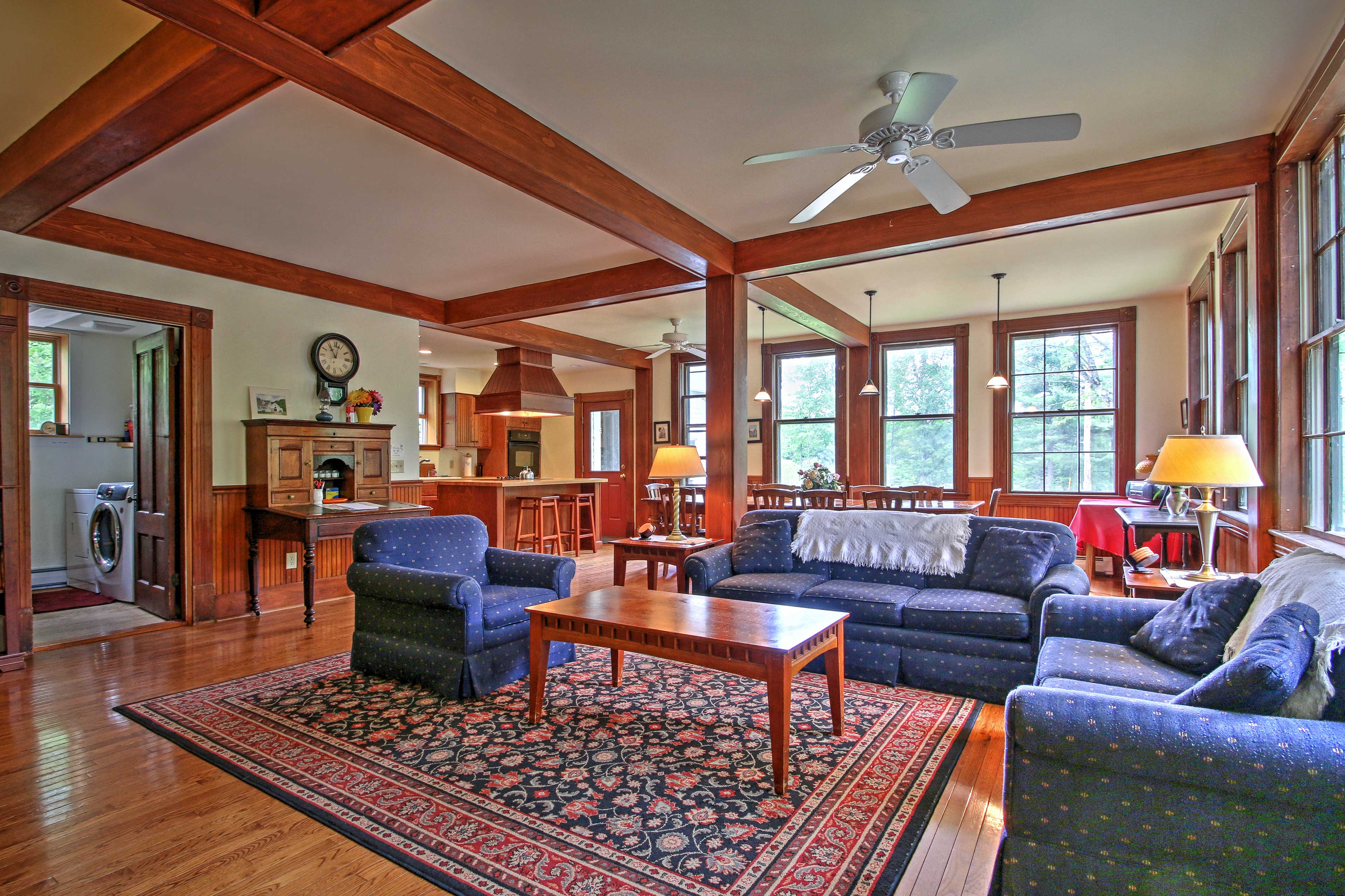 There's ample room to relax in the living area.